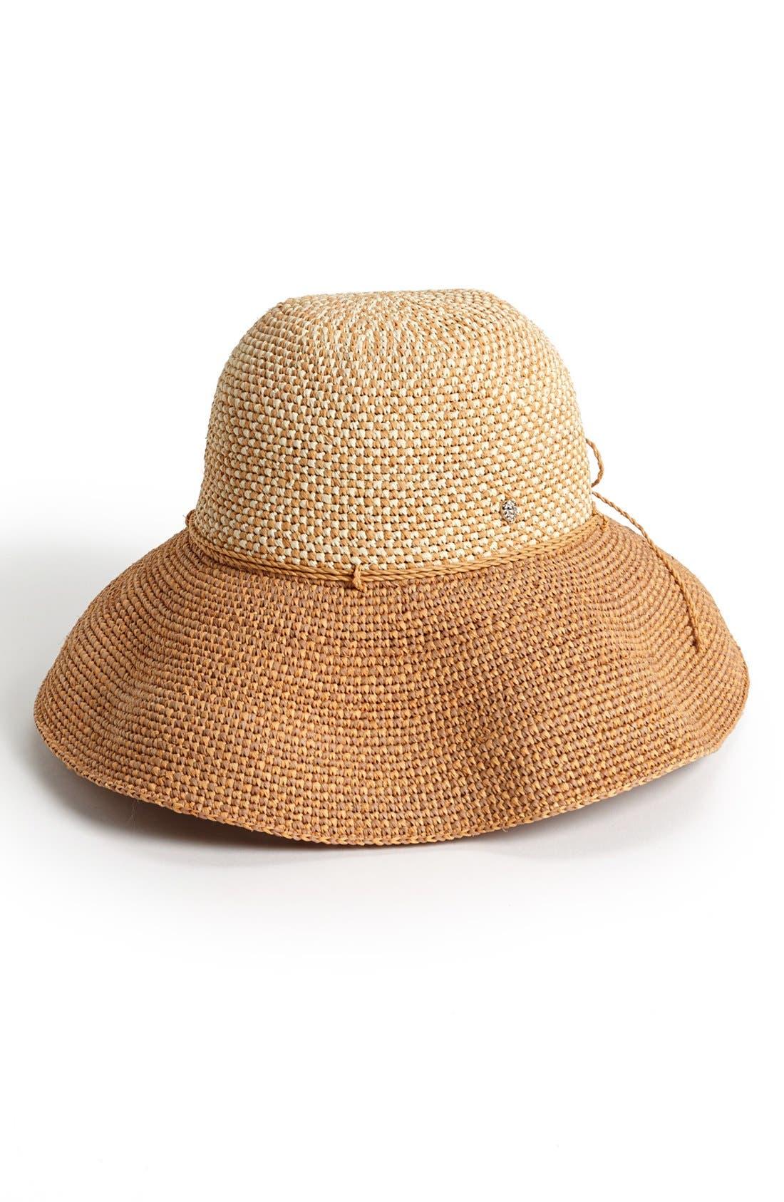 'Provence 12' Packable Raffia Hat,                             Main thumbnail 11, color,