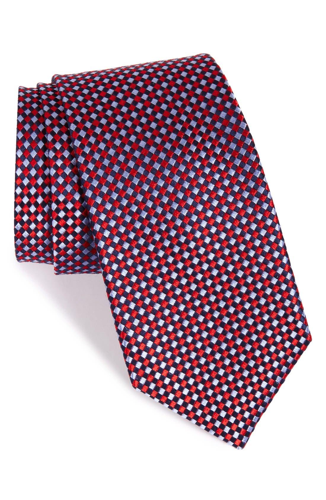 Check Silk Tie,                             Main thumbnail 10, color,