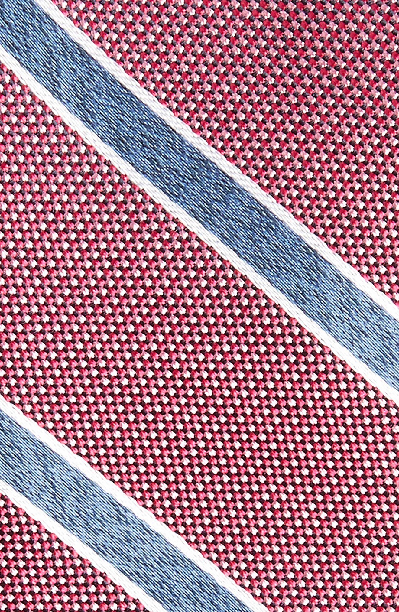 Fontana Stripe Silk Skinny Tie,                             Alternate thumbnail 3, color,