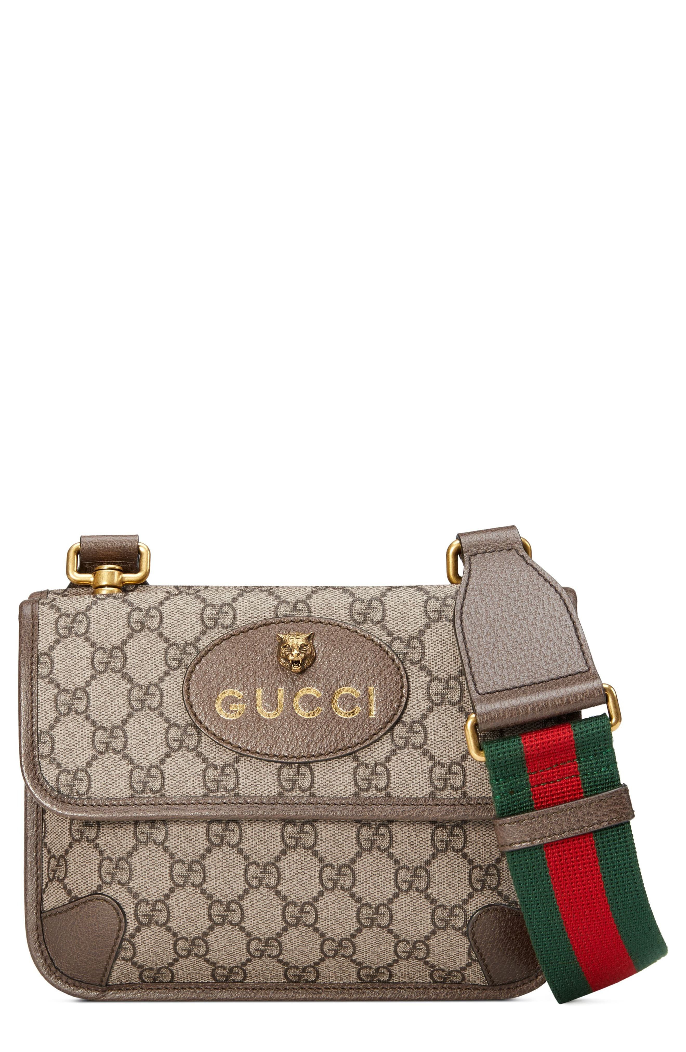86f98590539c Gucci Small Gg Supreme Canvas Messenger Bag - Beige In Beige Ebony/ New  Acero. Nordstrom