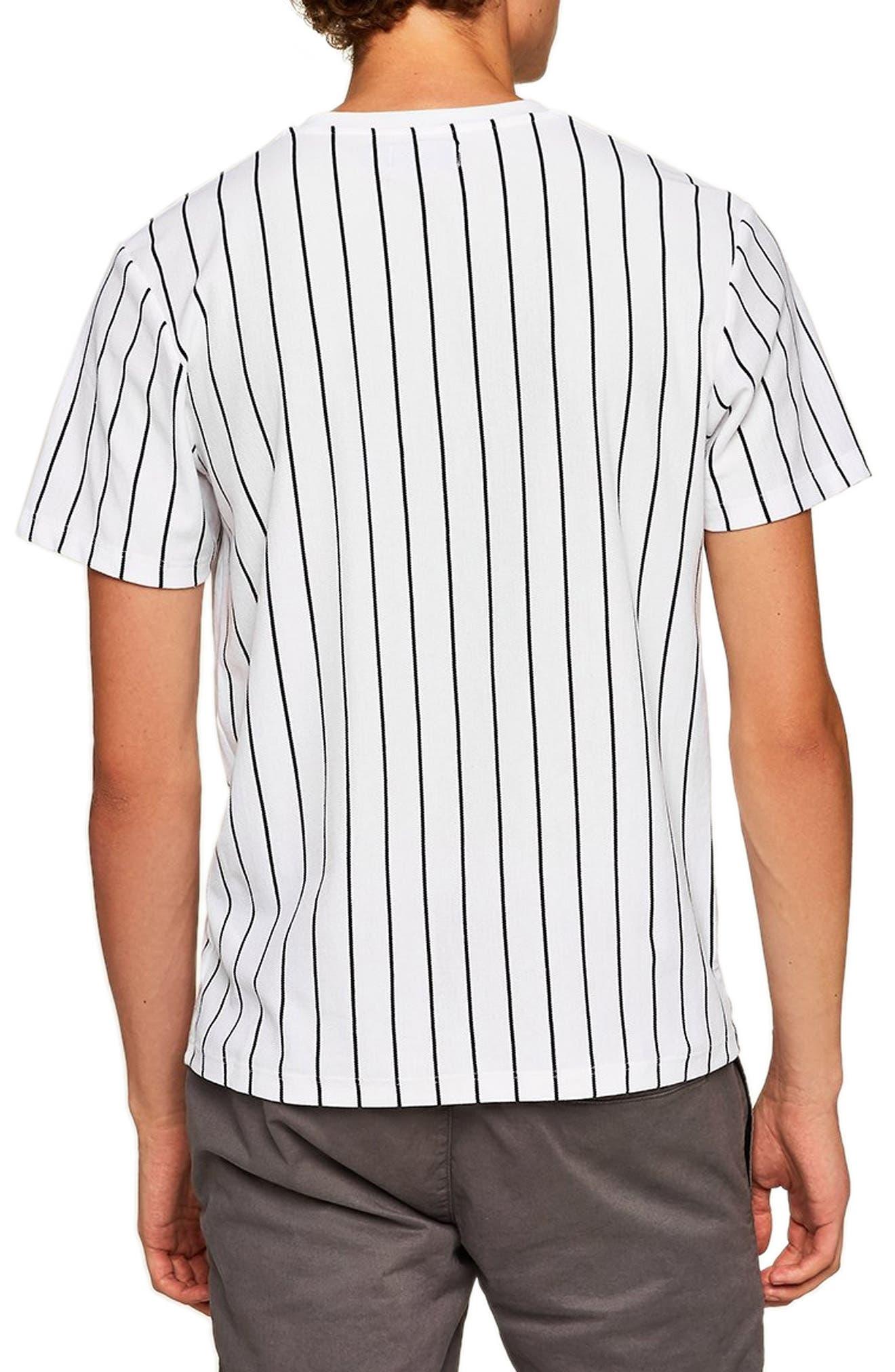 Stripe T-Shirt,                             Alternate thumbnail 2, color,                             WHITE MULTI