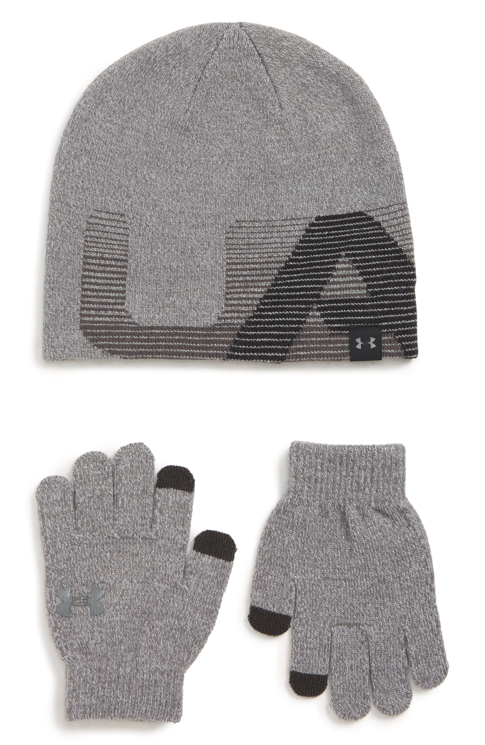 Under Armour ColdGear® Beanie   Gloves Set (Big Boys)  bcc22280494