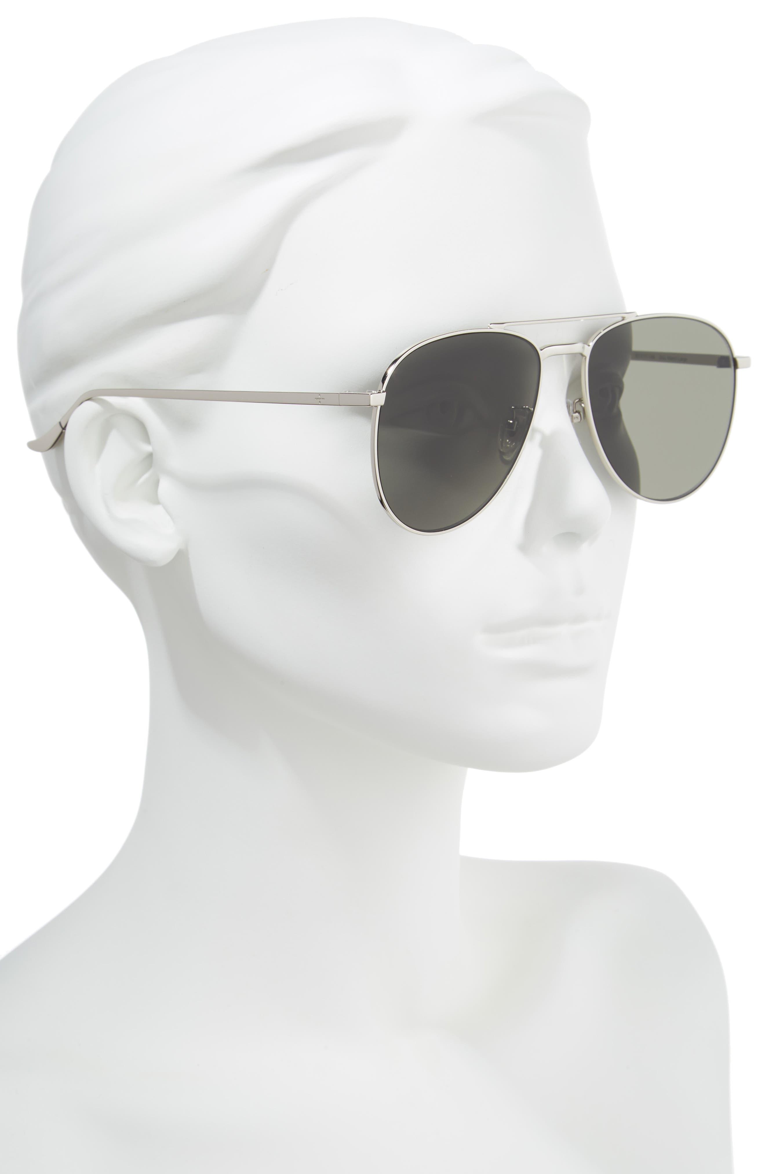 BLANC & ECLARE Miami 61mm Large Polarized Aviator Sunglasses,                             Alternate thumbnail 2, color,                             040