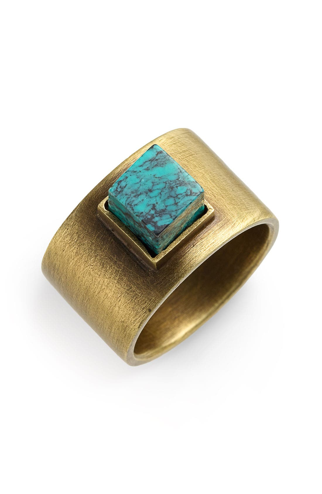 KELLY WEARSTLER Turquoise Stud Ring, Main, color, 220