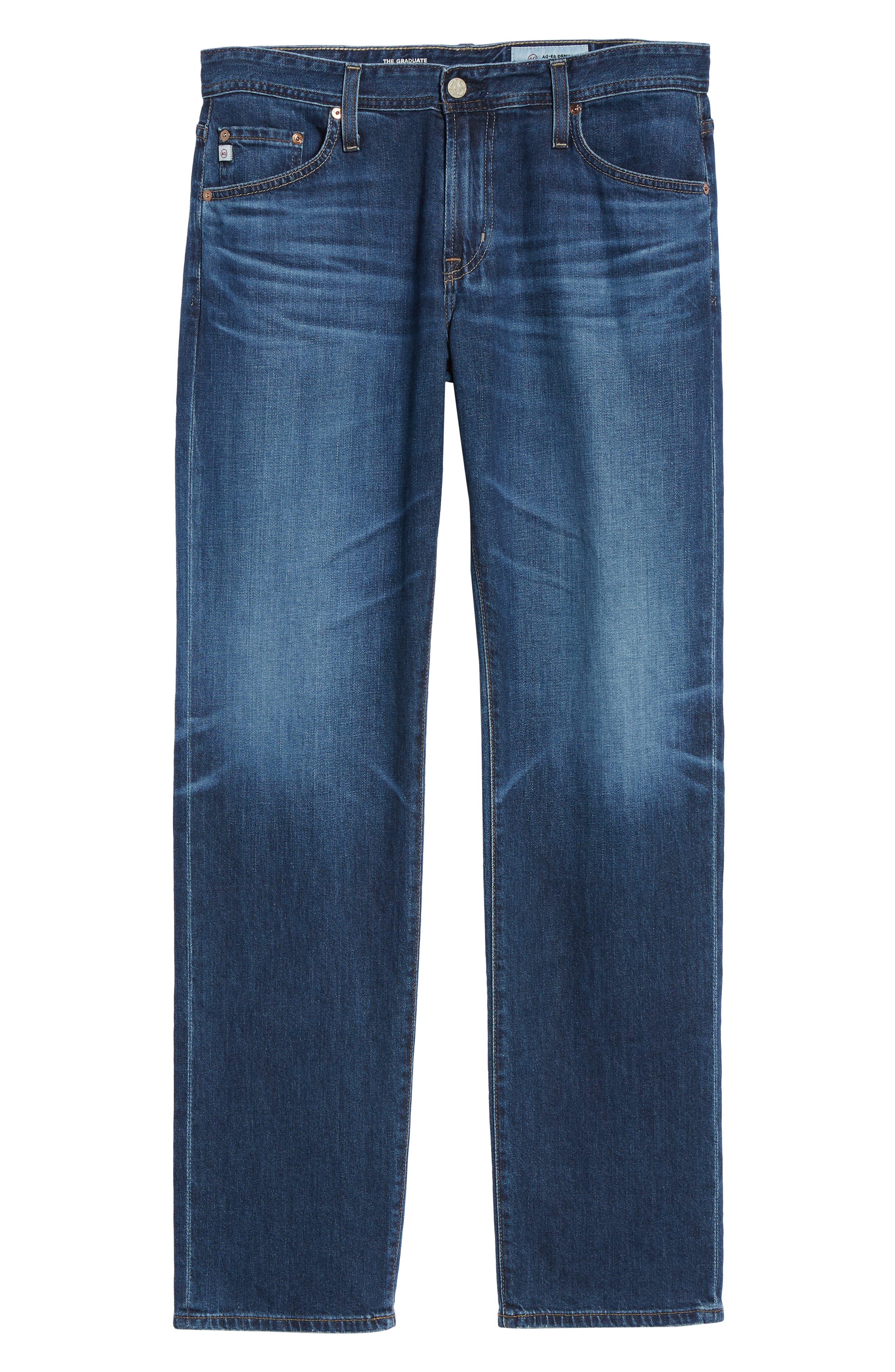 AG,                             Graduate Slim Straight Leg Jeans,                             Alternate thumbnail 6, color,                             7 YEAR CEASE