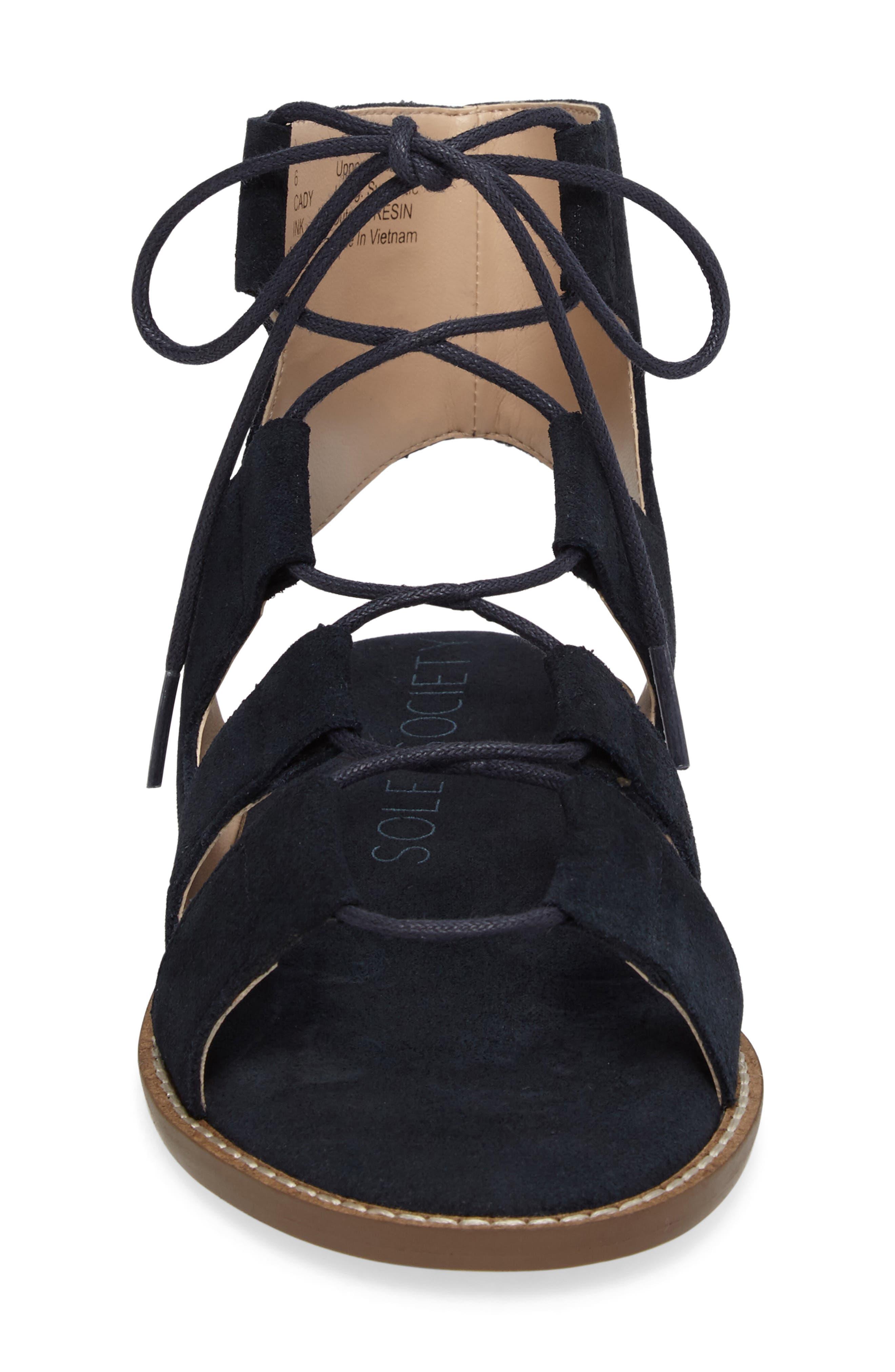 'Cady' Lace-Up Flat Sandal,                             Alternate thumbnail 16, color,