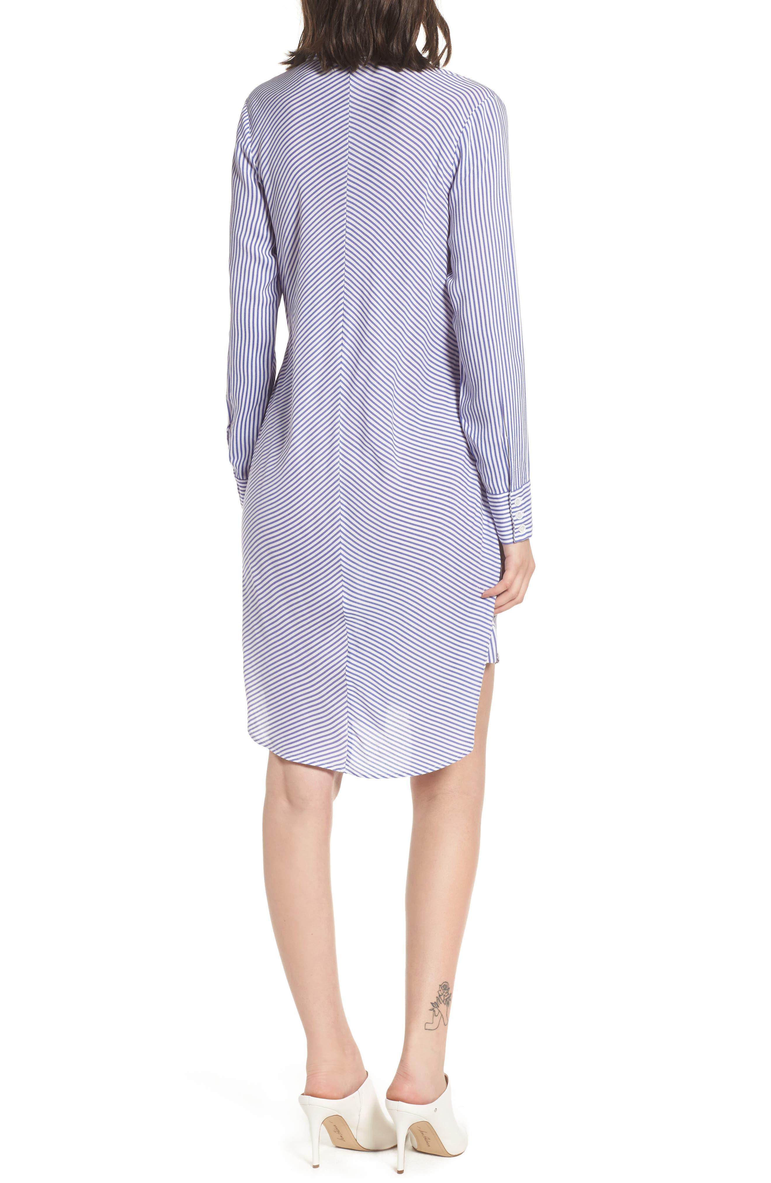Bishop + Young Stripe Tie Waist Shirtdress,                             Alternate thumbnail 2, color,                             400