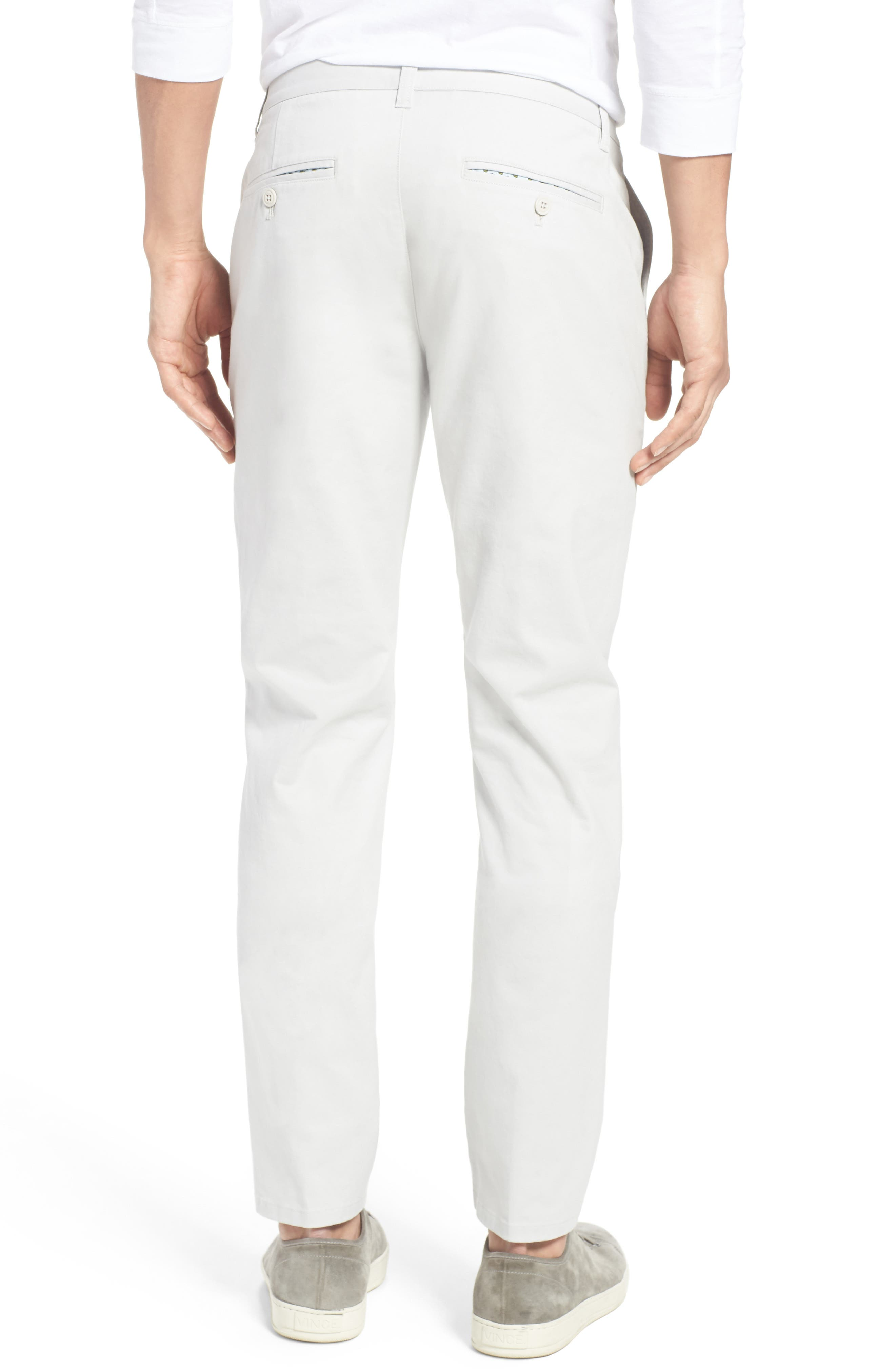 Tailored Fit Washed Stretch Cotton Chinos,                             Alternate thumbnail 61, color,