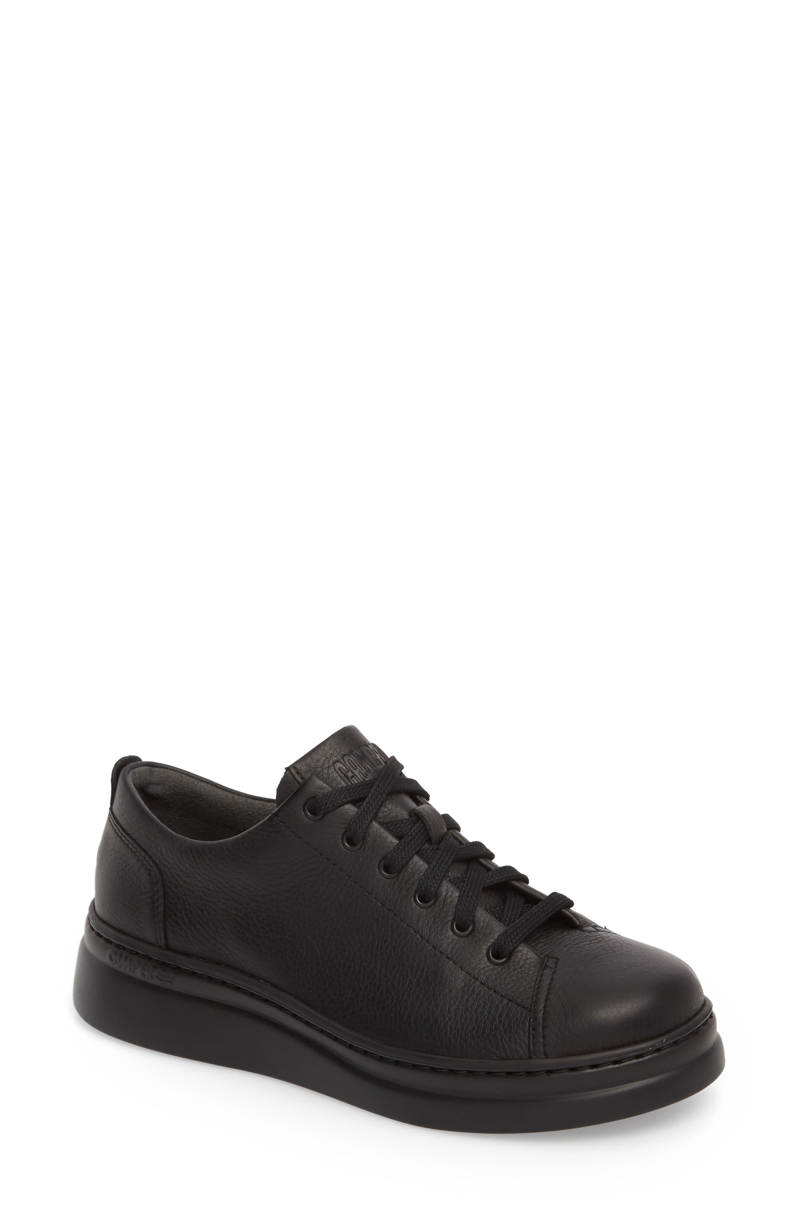 Runner Up Sneaker,                         Main,                         color, BLACK LEATHER