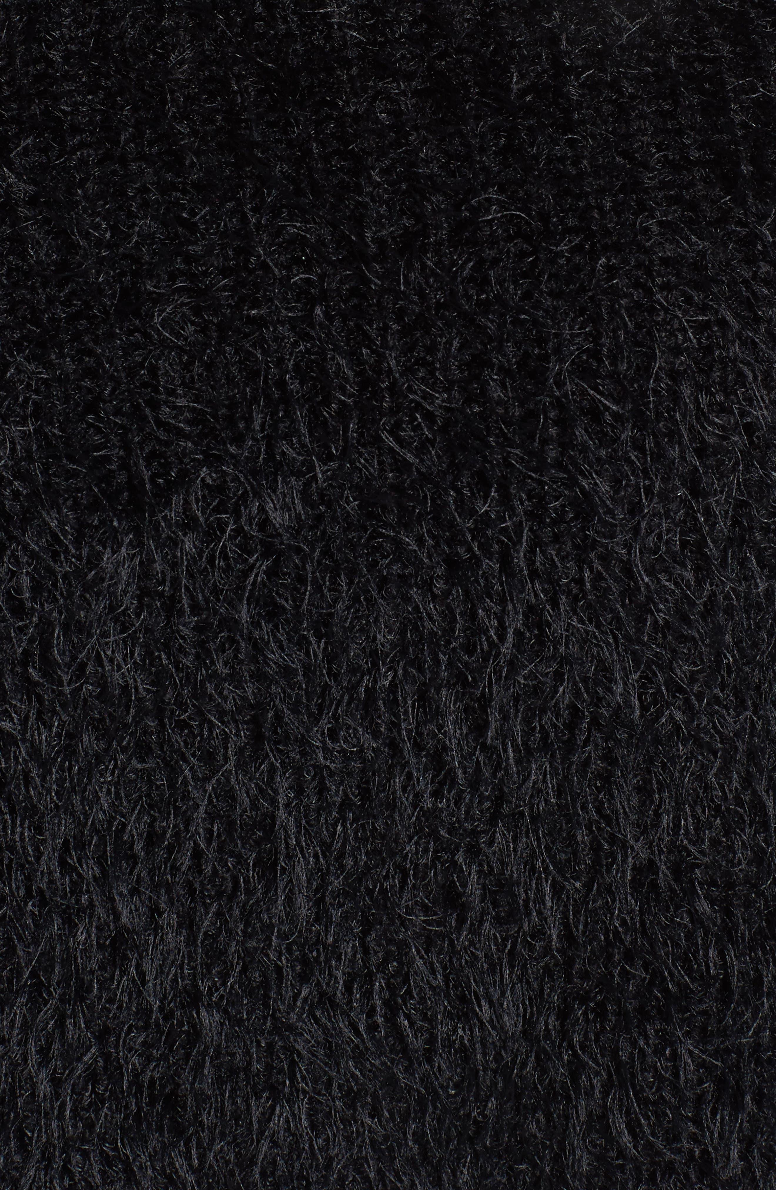 MAJORELLE,                             Majesty Tie Crop Sweater,                             Alternate thumbnail 5, color,                             001