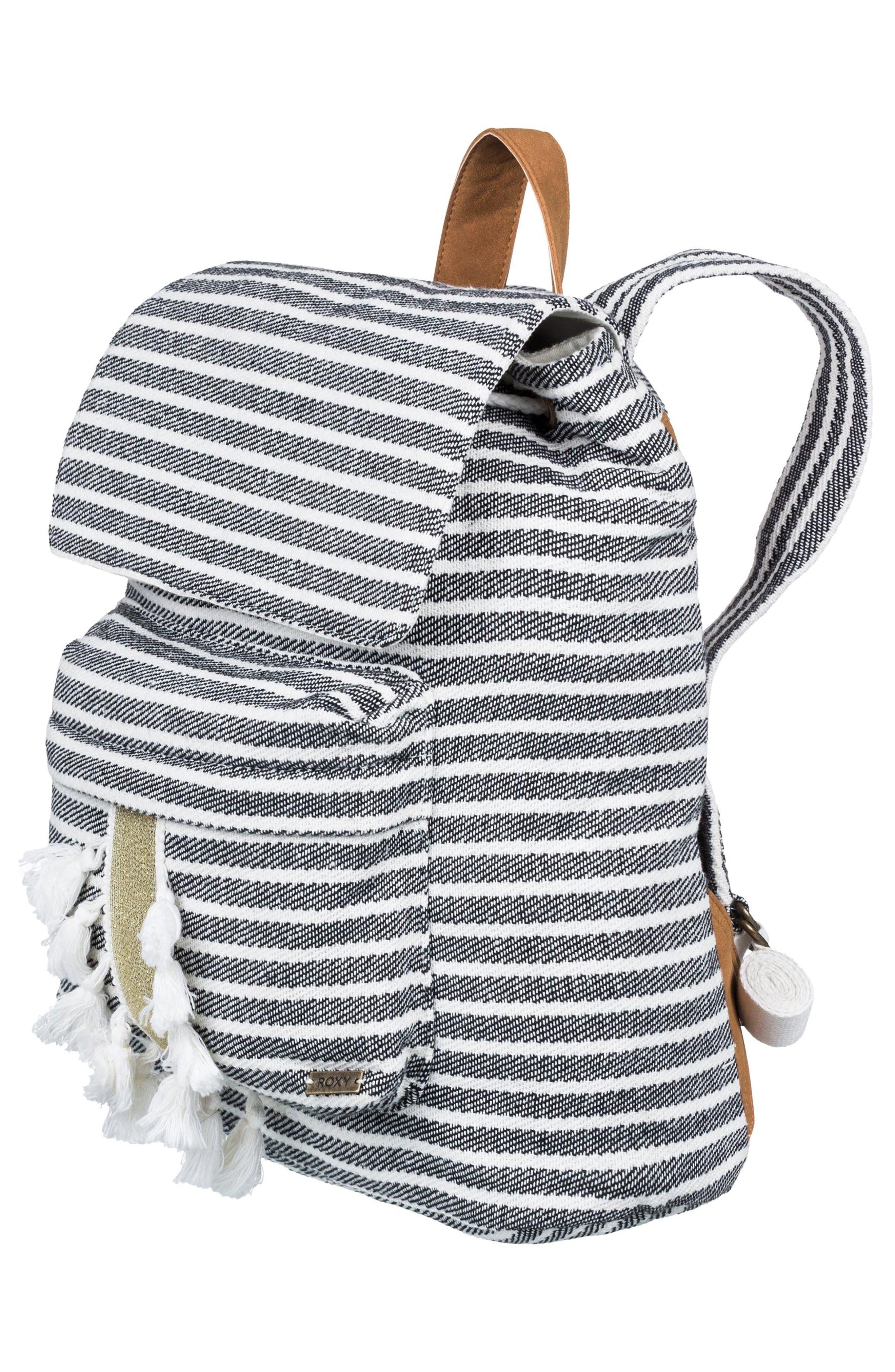Love Them Hard Tassel Backpack,                             Alternate thumbnail 3, color,                             001