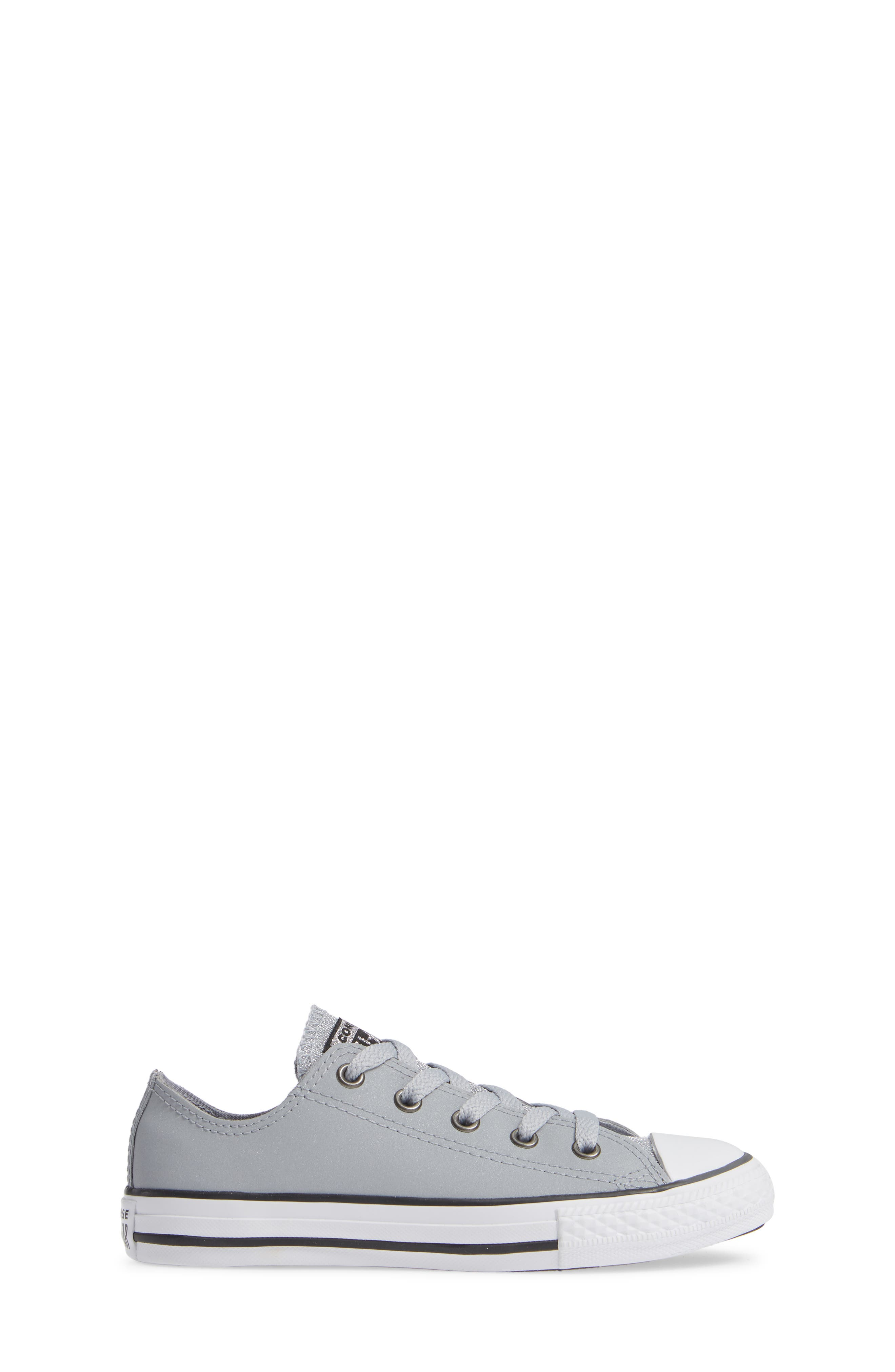 All Star<sup>®</sup> Metallic Low Top Sneaker,                             Alternate thumbnail 3, color,                             WOLF GREY