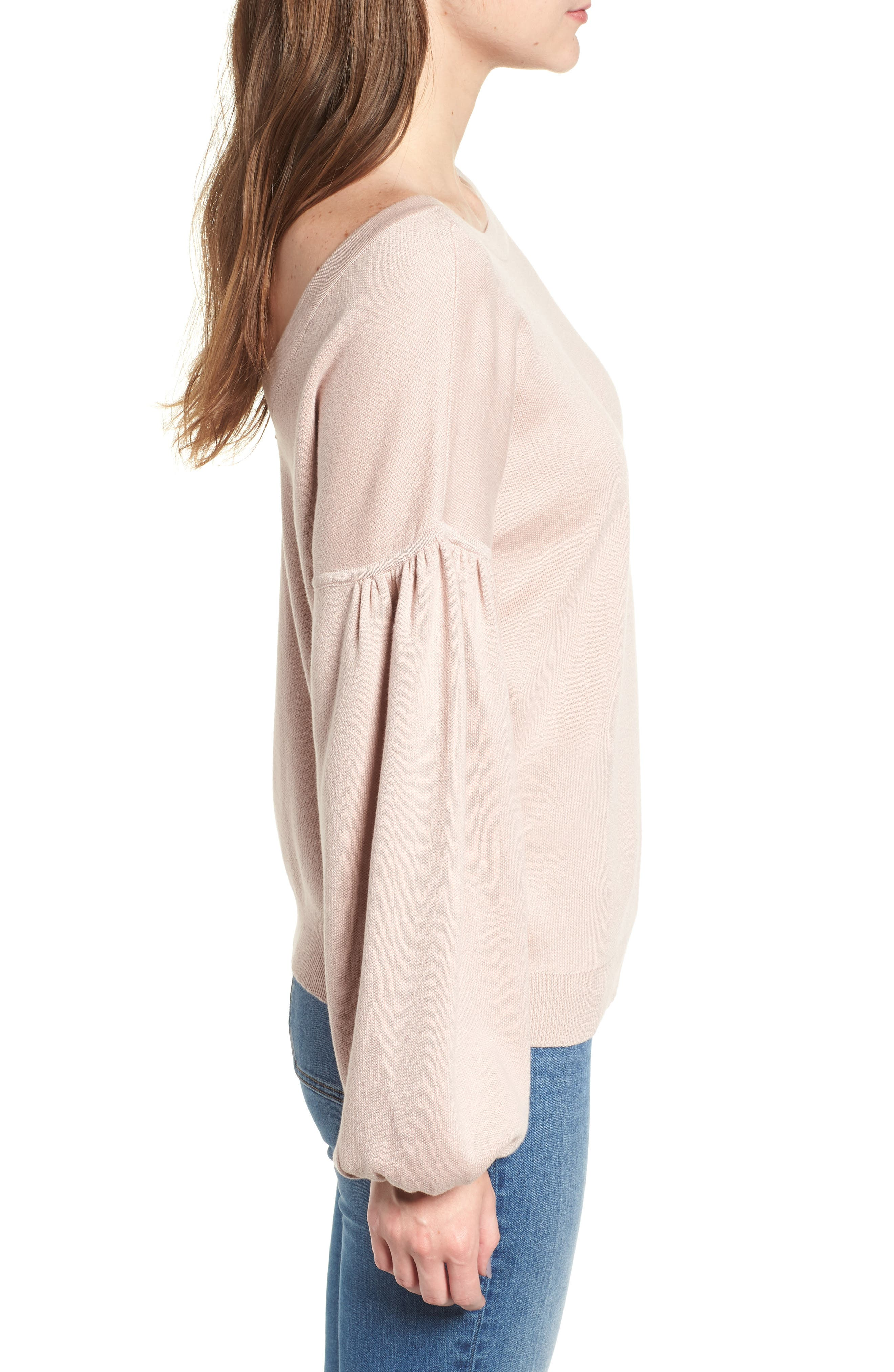 Bishop + Young Hailey Balloon Sleeve Sweater,                             Alternate thumbnail 3, color,                             QUARTZ