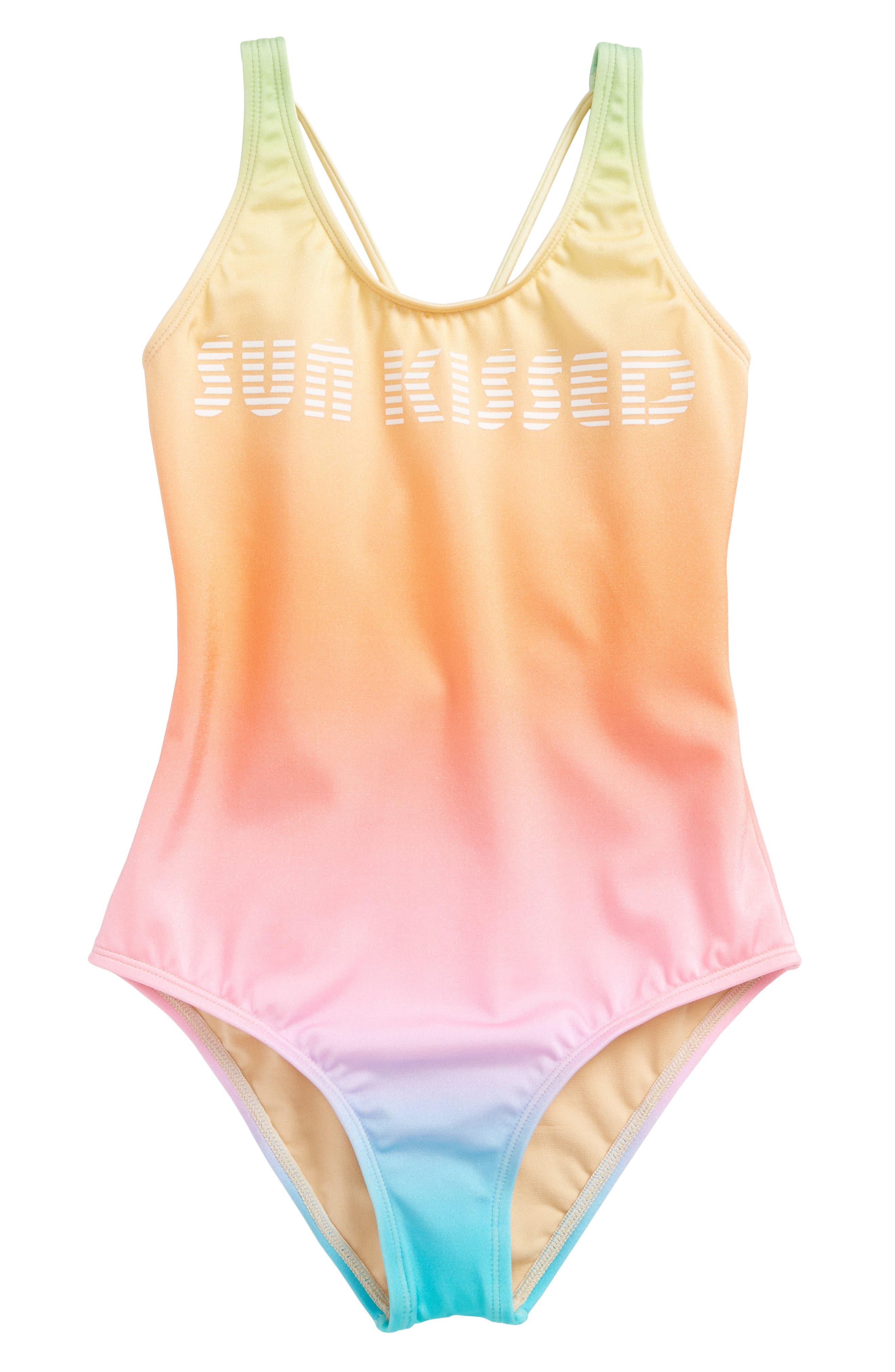 Teen Spirit Sun Kissed One-Piece Swimsuit,                         Main,                         color, 441