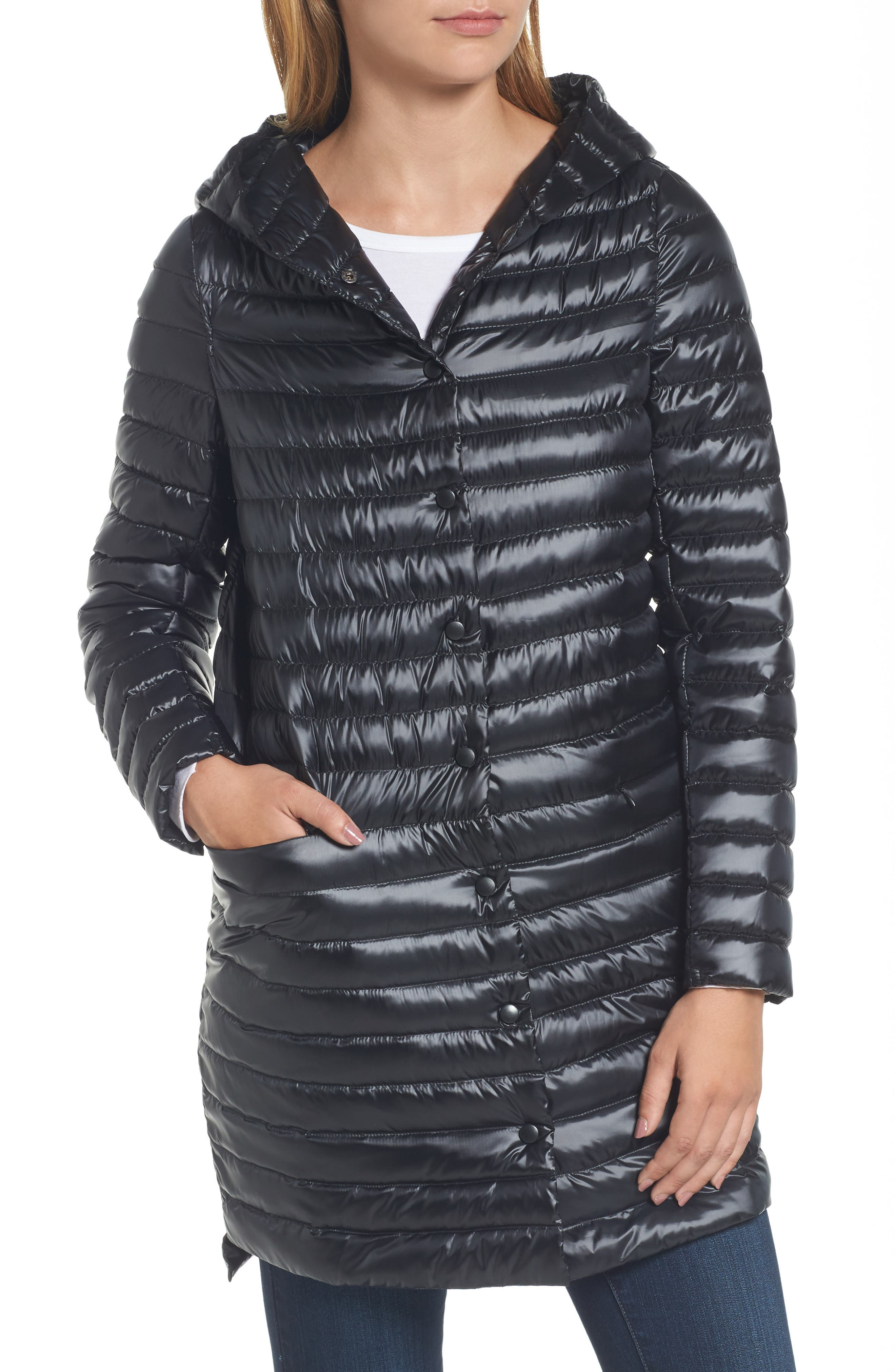 Reversible Down & Feather Fill Puffer Jacket,                             Alternate thumbnail 7, color,