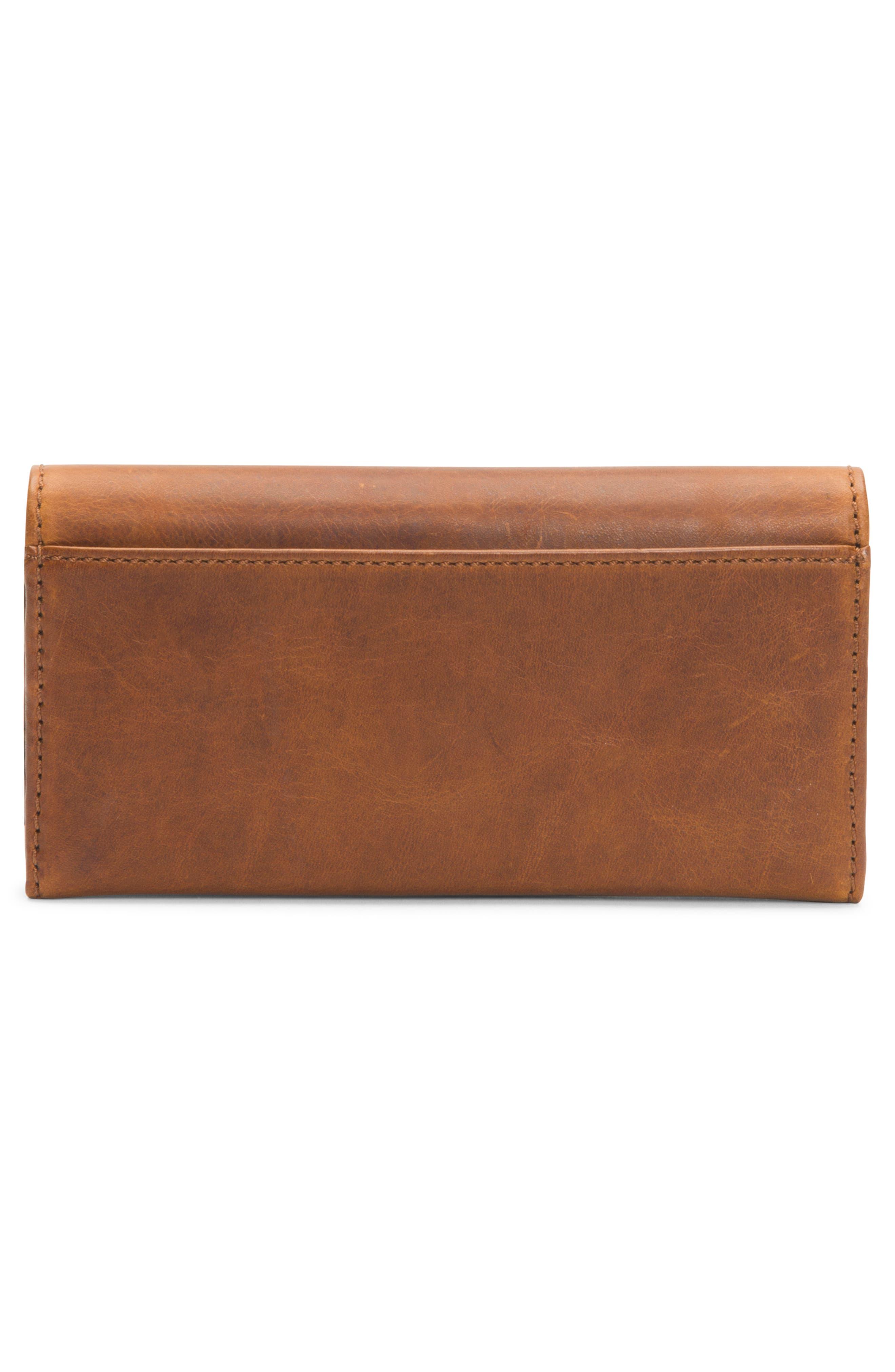 Melissa Leather Wallet,                             Alternate thumbnail 4, color,                             COGNAC