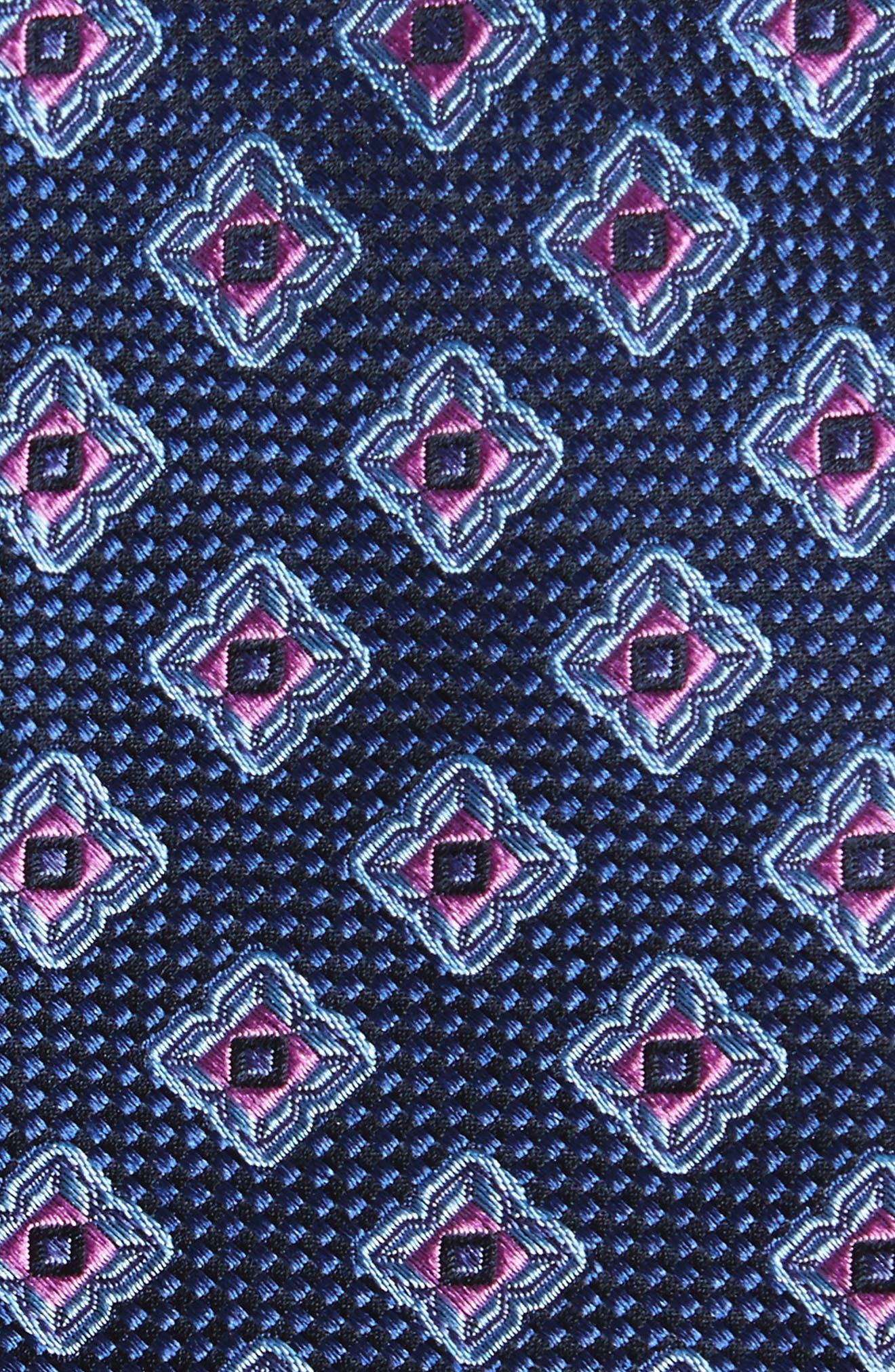 Ethan Medallion Silk Tie,                             Alternate thumbnail 2, color,                             411