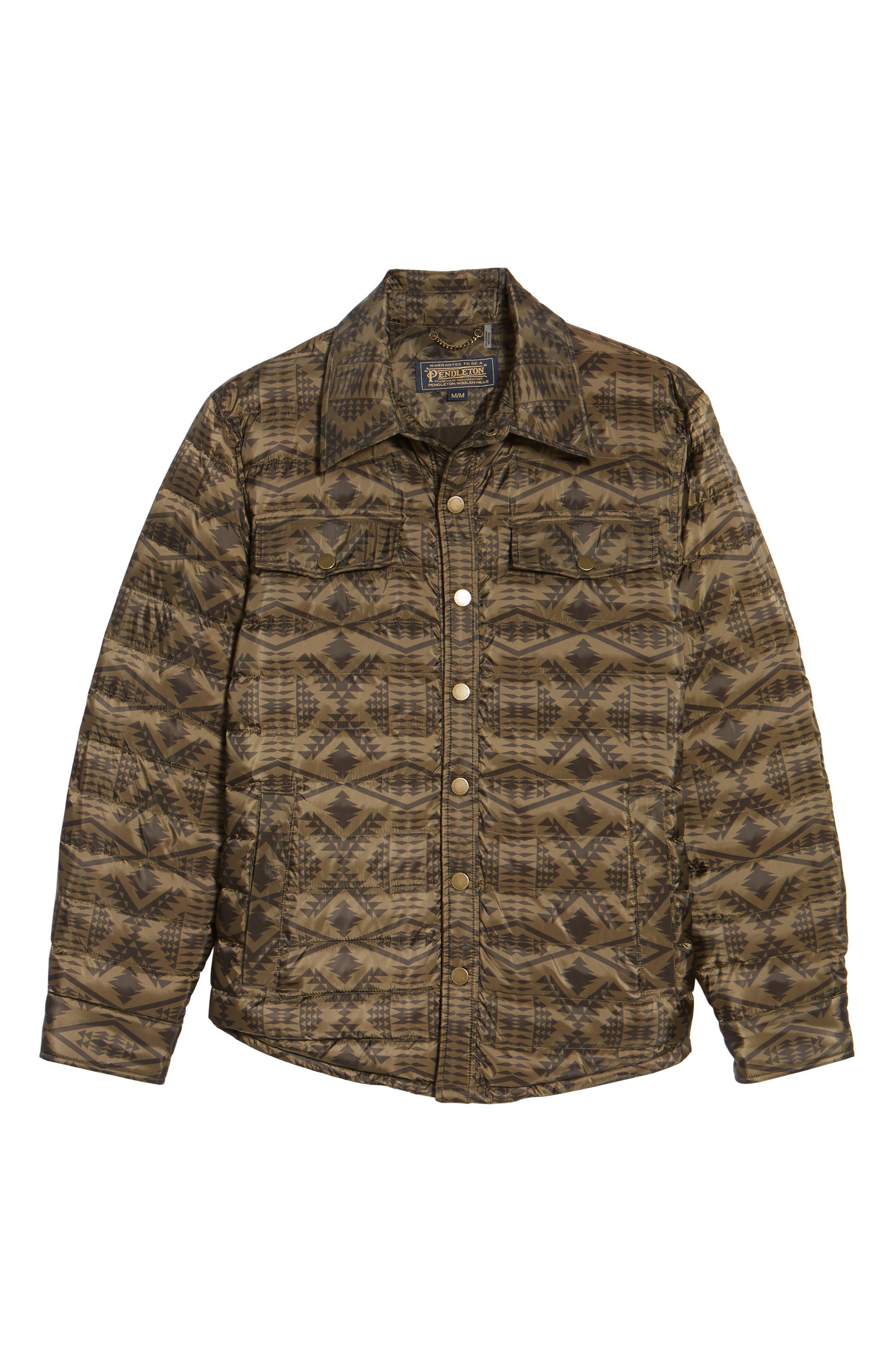 Moab Water Resistant Down Shirt Jacket,                             Alternate thumbnail 5, color,                             342