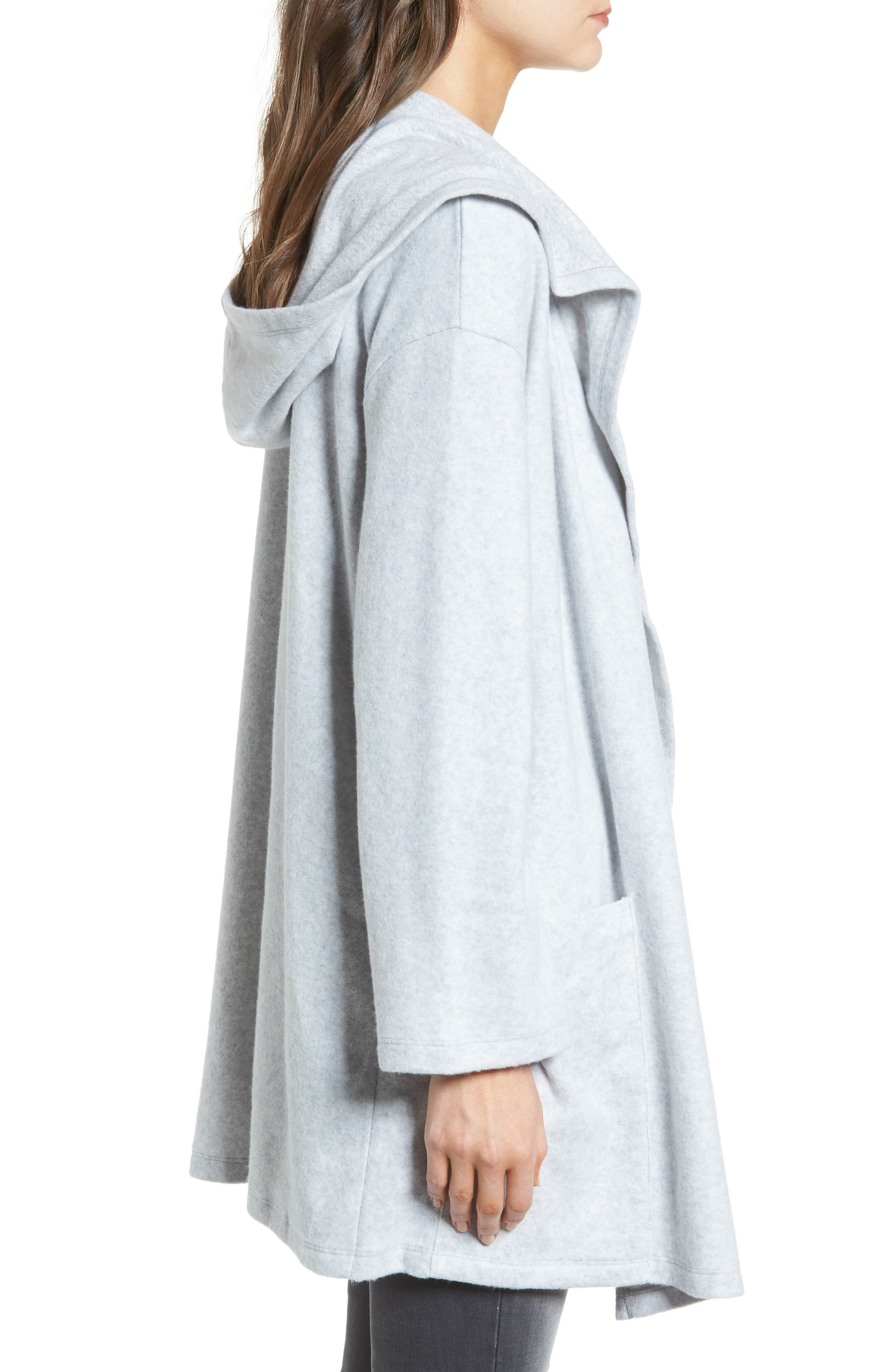 Hooded Open Front Cardigan,                             Alternate thumbnail 3, color,