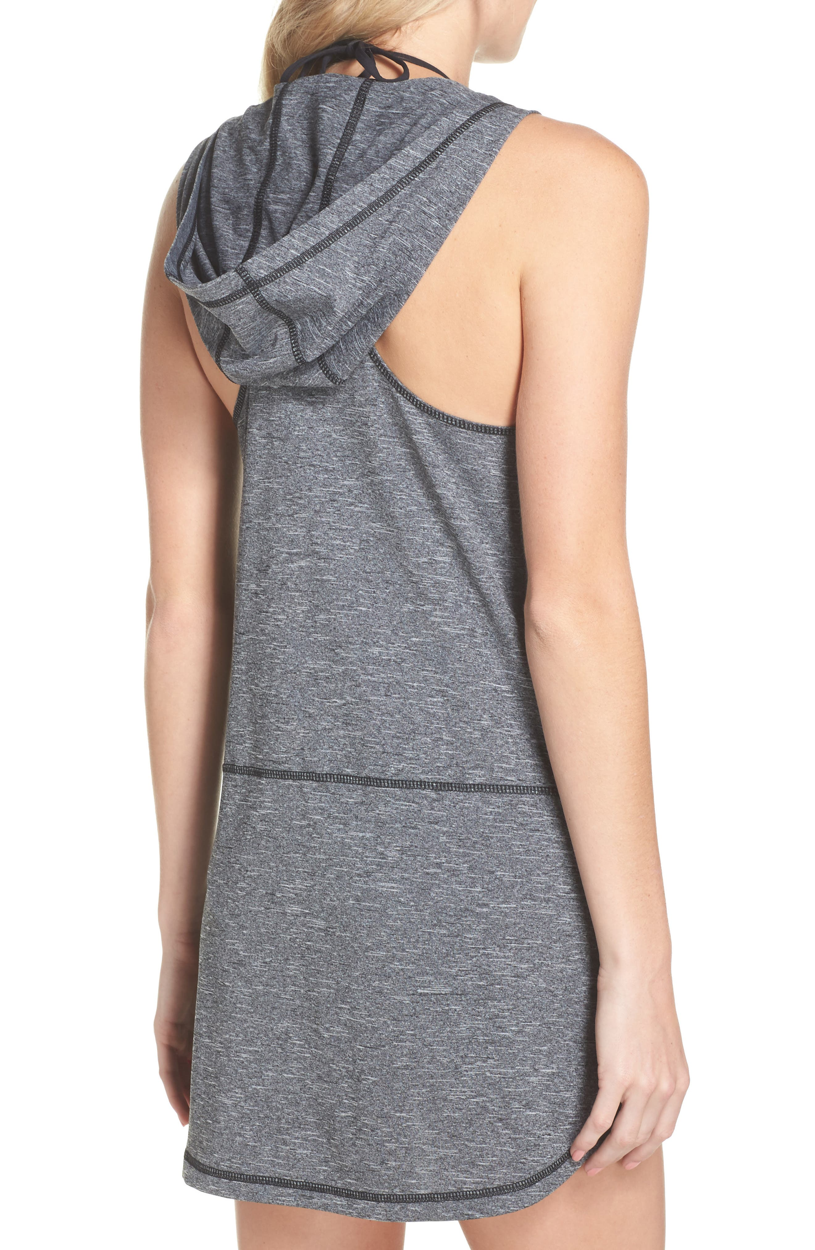 Hooded Cover-Up Dress,                             Alternate thumbnail 2, color,                             001