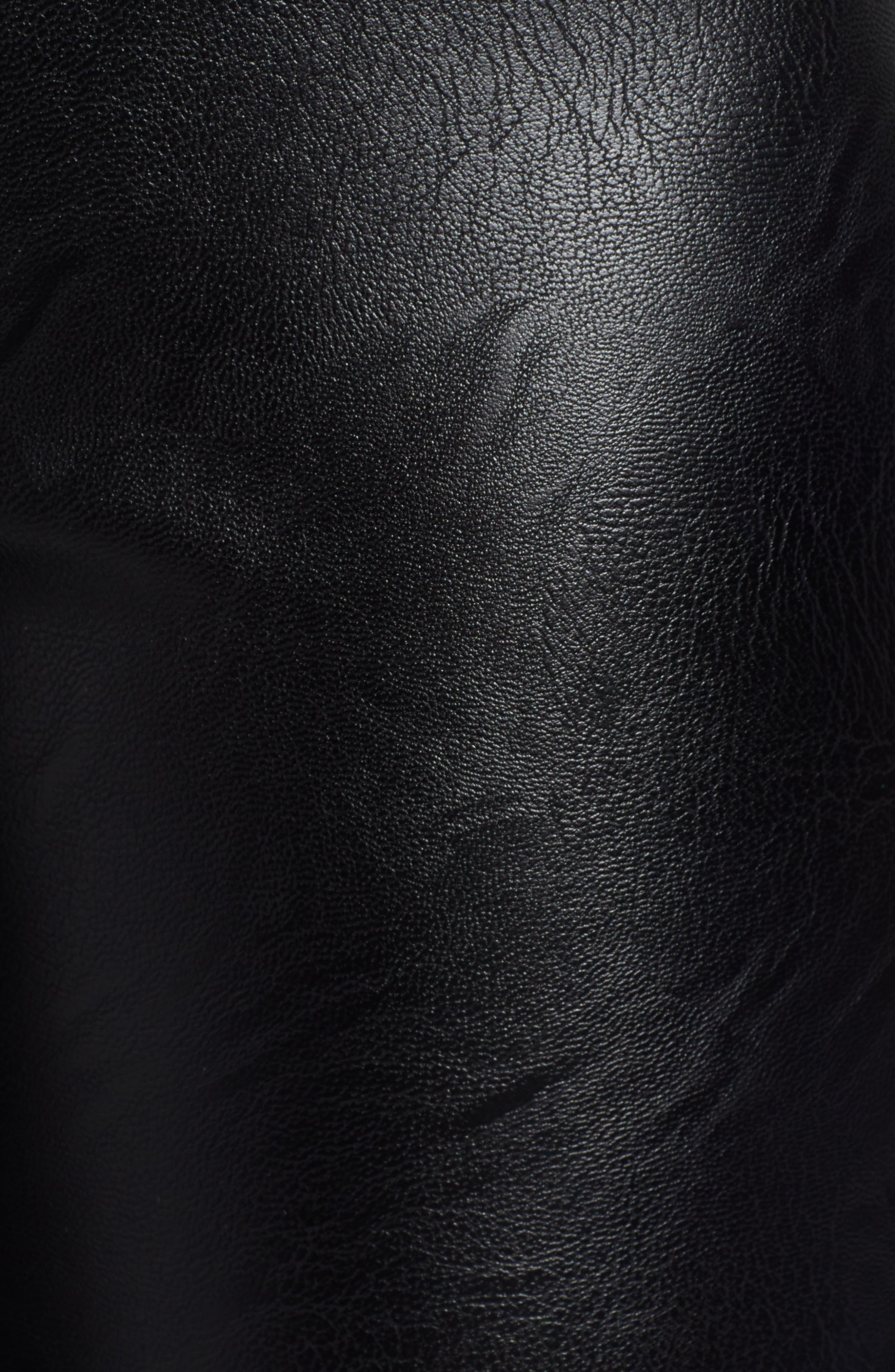TIGER MIST,                             Lennon Zip Detail Faux Leather Pants,                             Alternate thumbnail 6, color,                             001