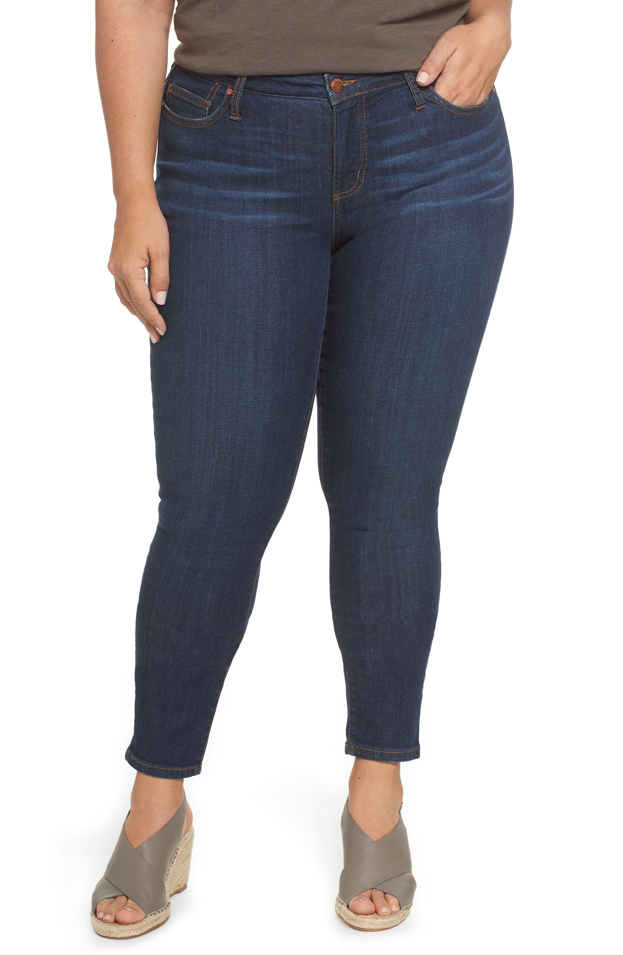 Stretch Skinny Jeans,                             Main thumbnail 1, color,                             MEDIUM WASH
