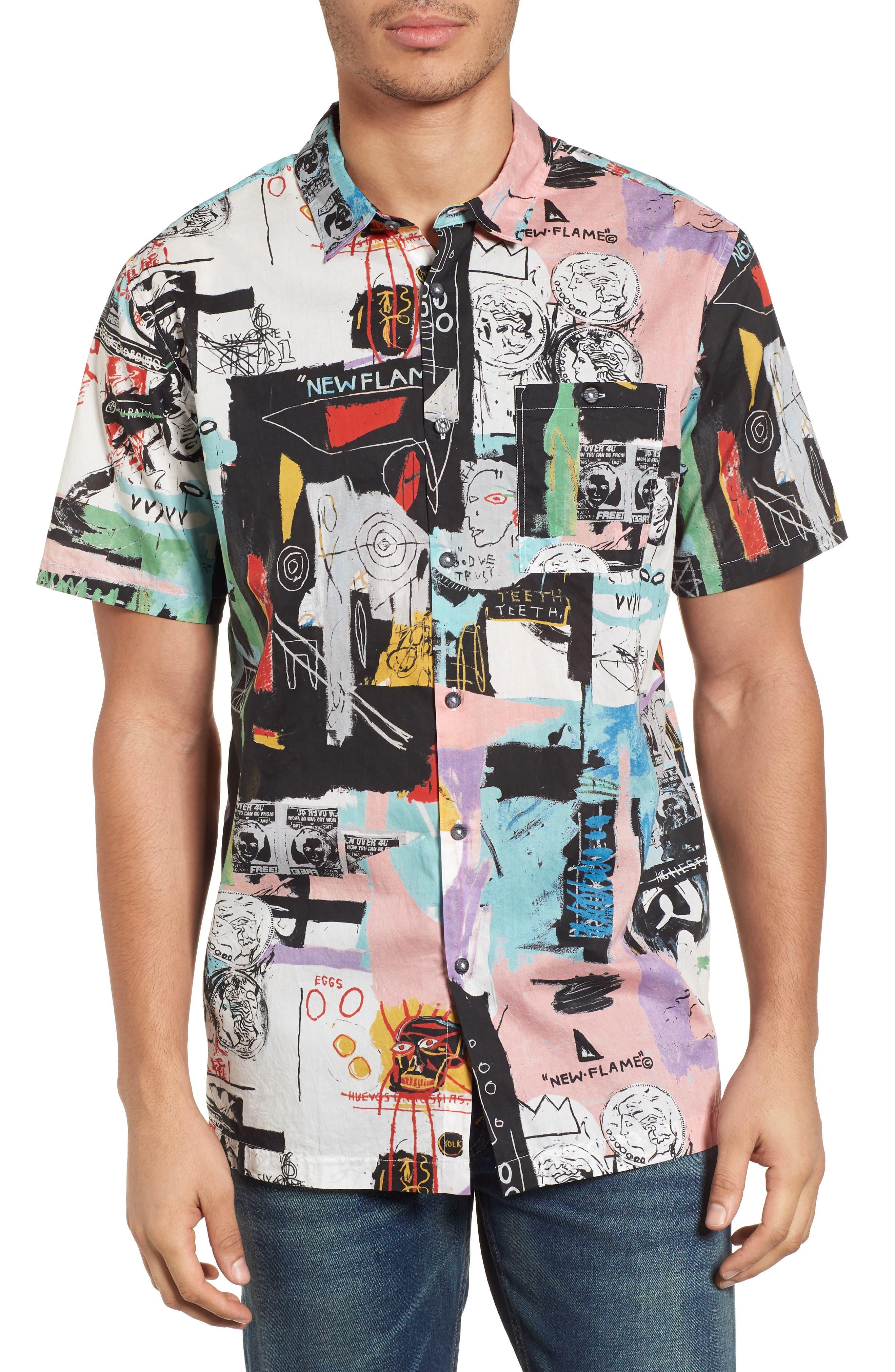 x Warhol Factory Shirt,                             Main thumbnail 1, color,                             BLACK