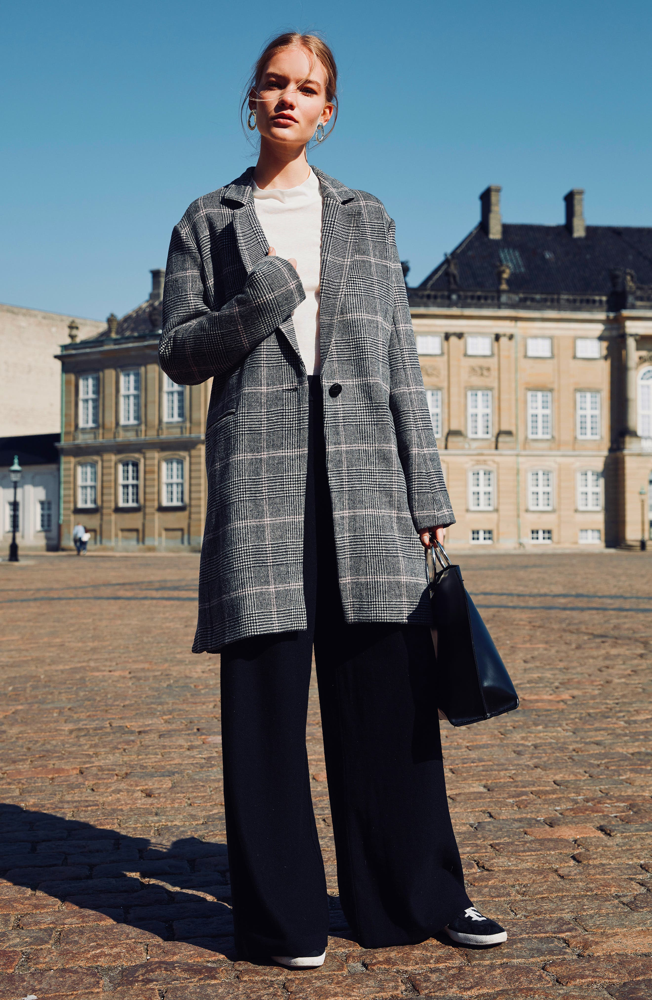 Anders Plaid Coat,                             Alternate thumbnail 2, color,                             CHARCOAL PINK PLAID