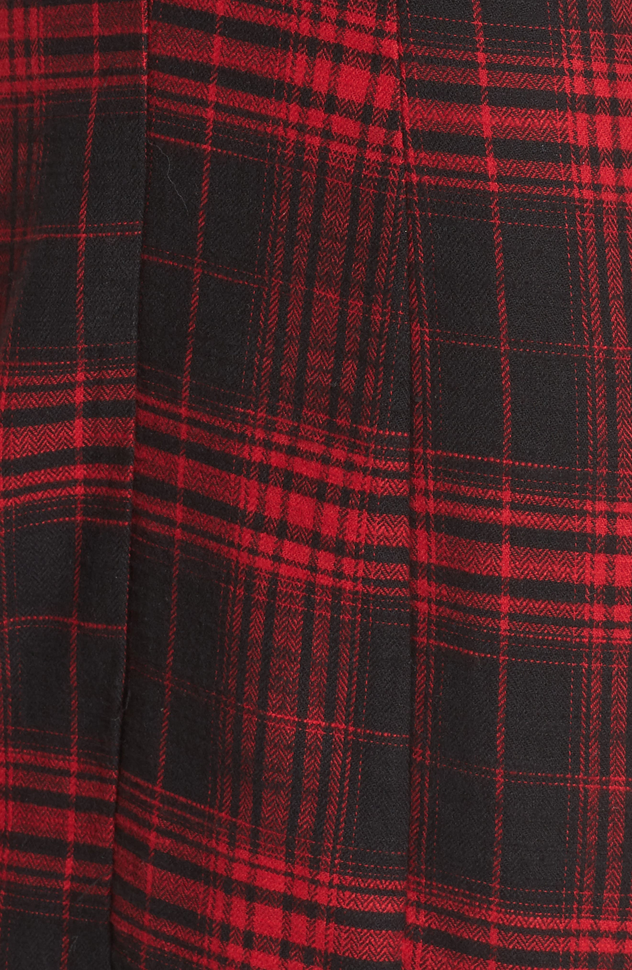 Jonah Puff Sleeve Flannel Dress,                             Alternate thumbnail 5, color,                             600