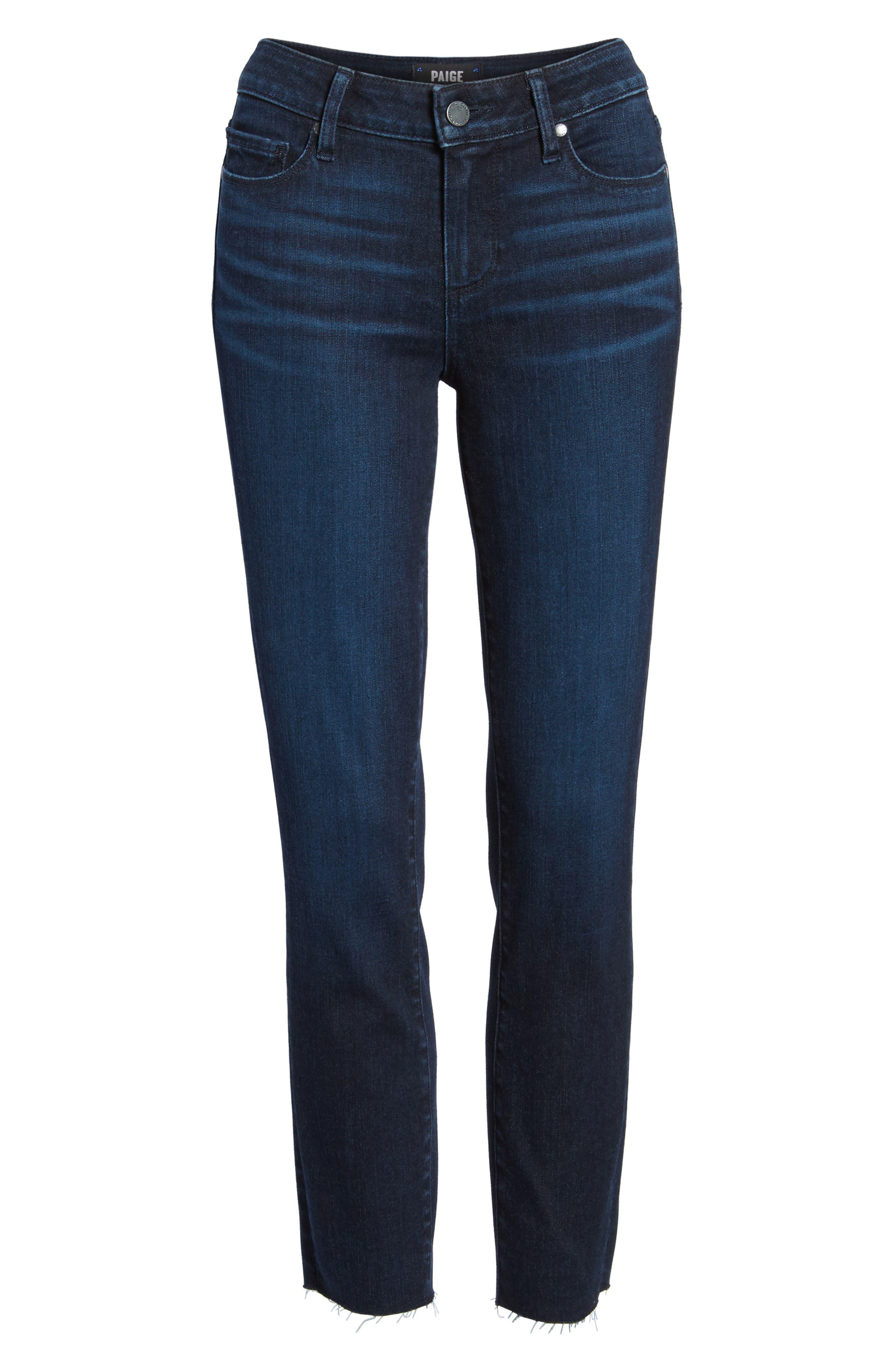 Transcend Vintage - Skyline Crop Skinny Jeans,                             Alternate thumbnail 7, color,                             LUELLA