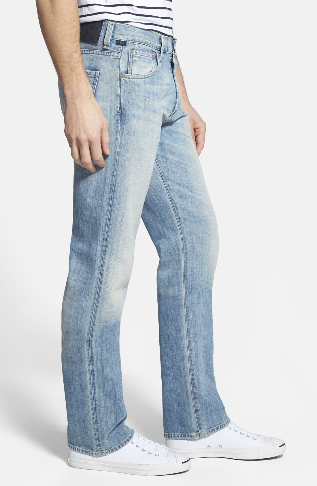 'Sid' Straight Leg Jeans,                             Alternate thumbnail 3, color,                             CONFEDERACY