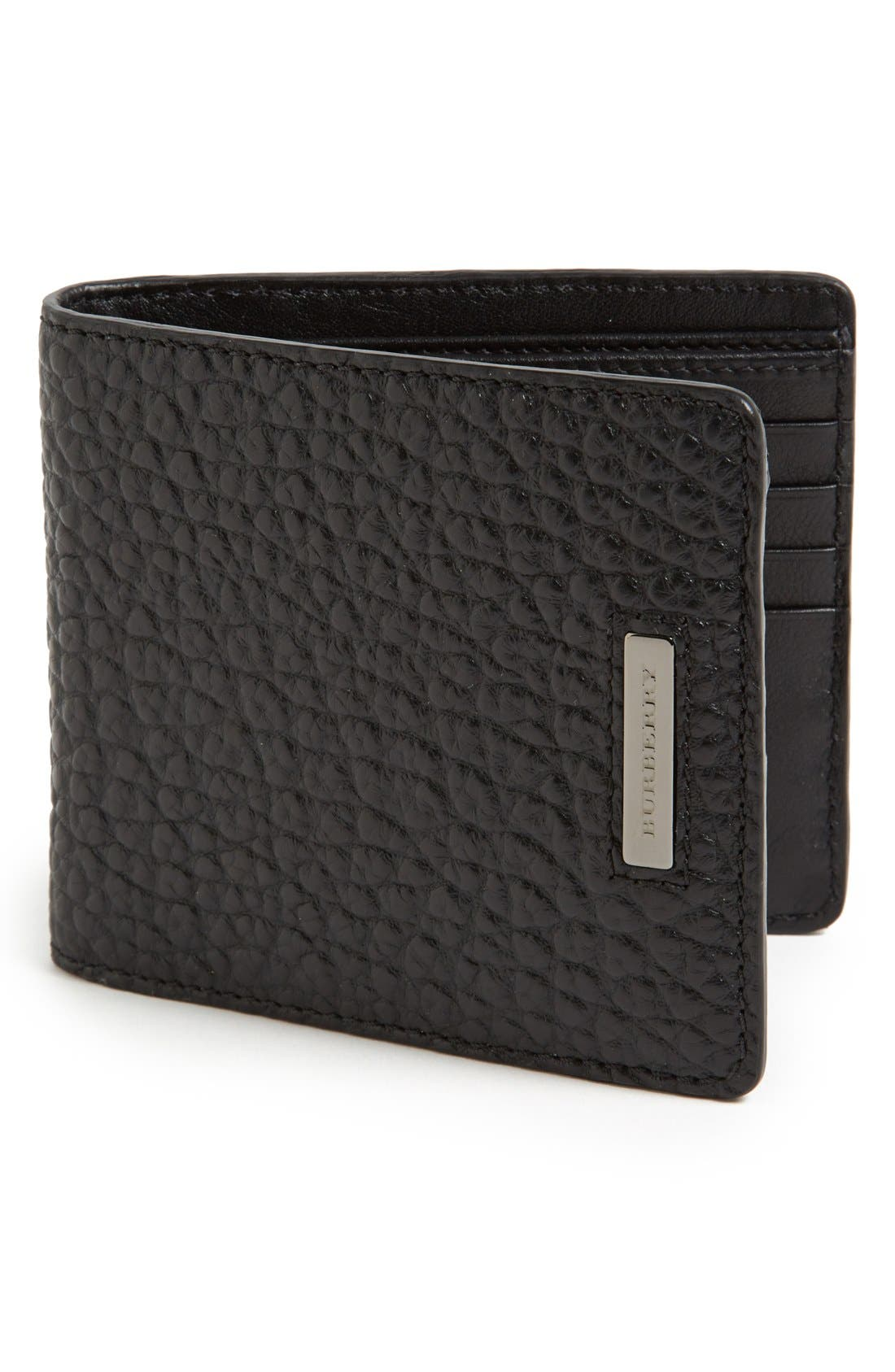 BURBERRY Hipfold Wallet, Main, color, 001
