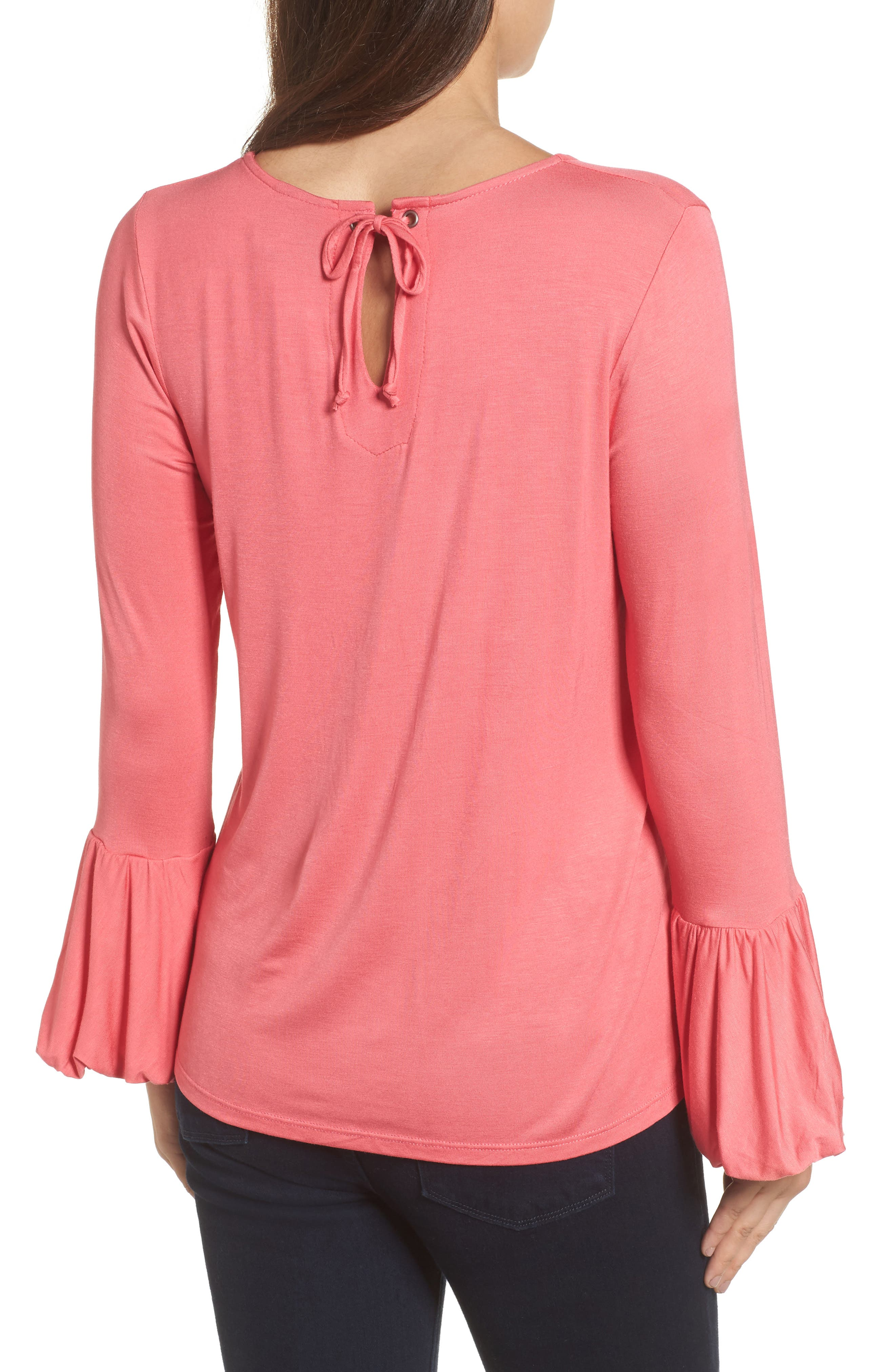 Bell Sleeve Top,                             Alternate thumbnail 10, color,