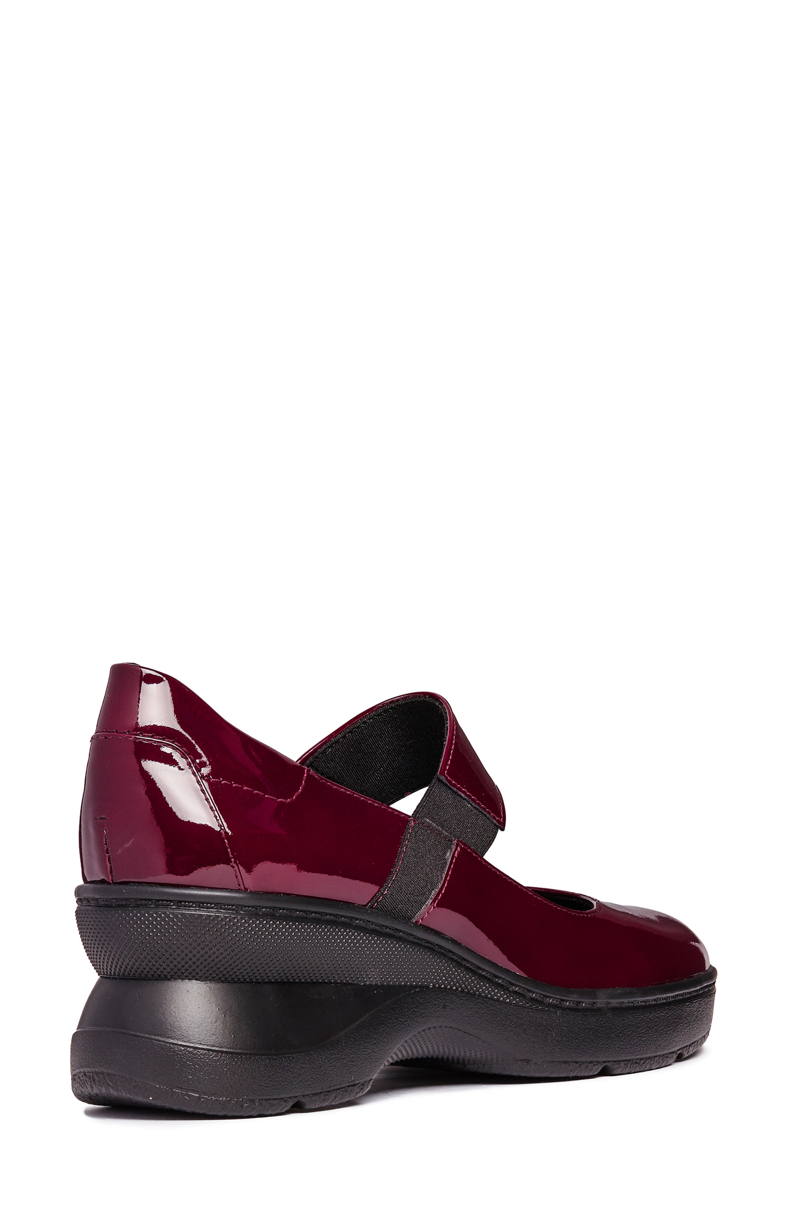 Ascythia Mary Jane Wedge,                             Alternate thumbnail 6, color,                             BORDEAUX LEATHER