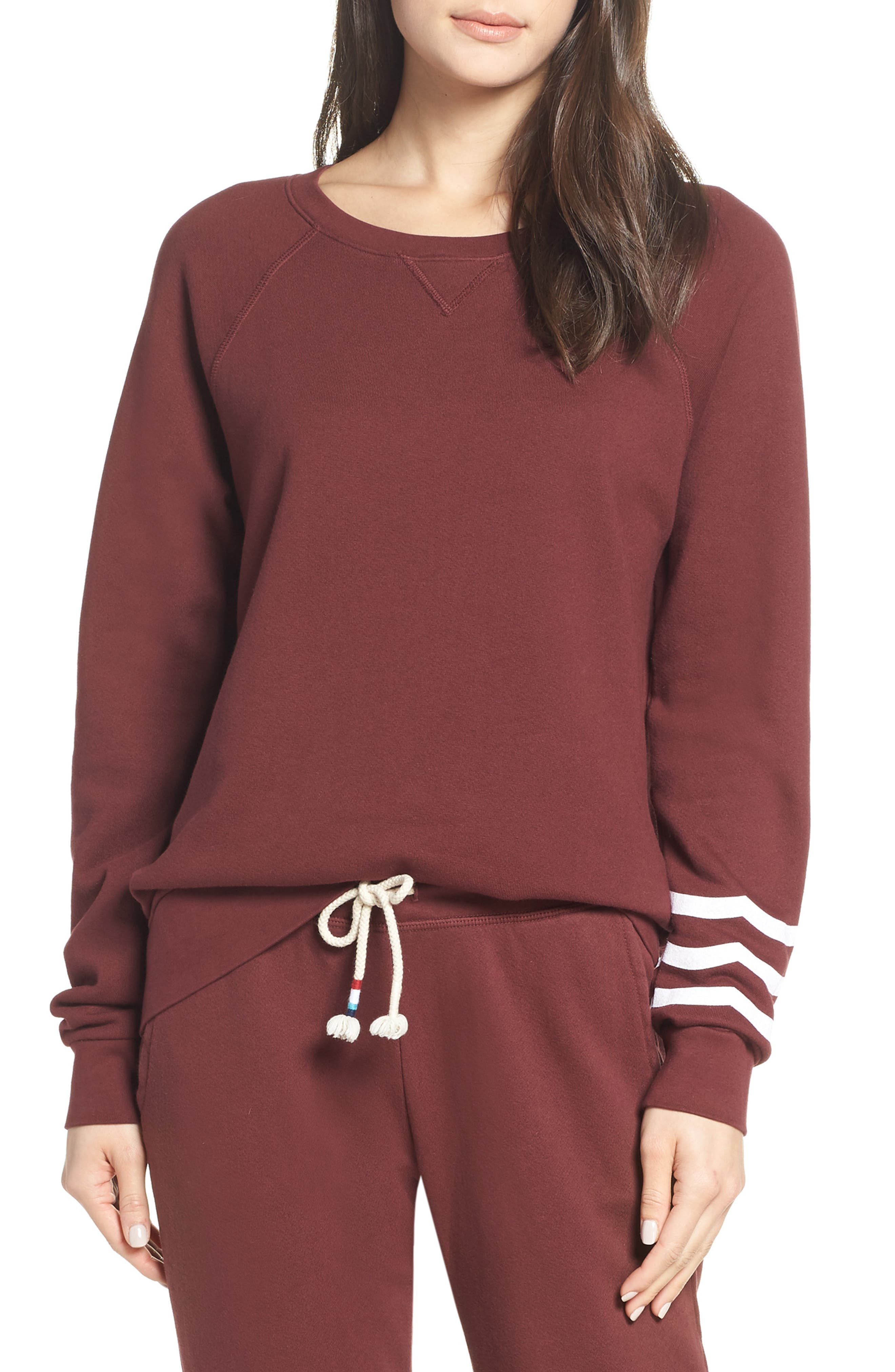 SOL ANGELES Essential Pullover in Syrah