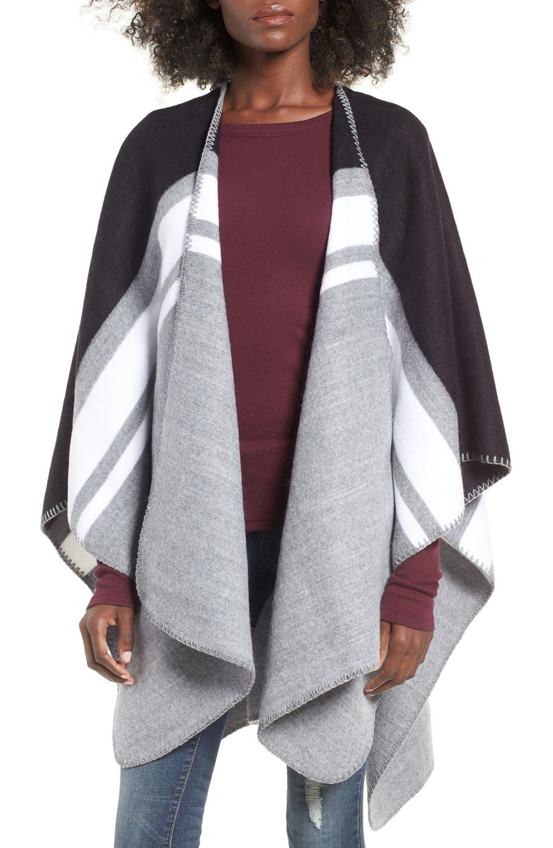 Stripe Poncho,                         Main,                         color,