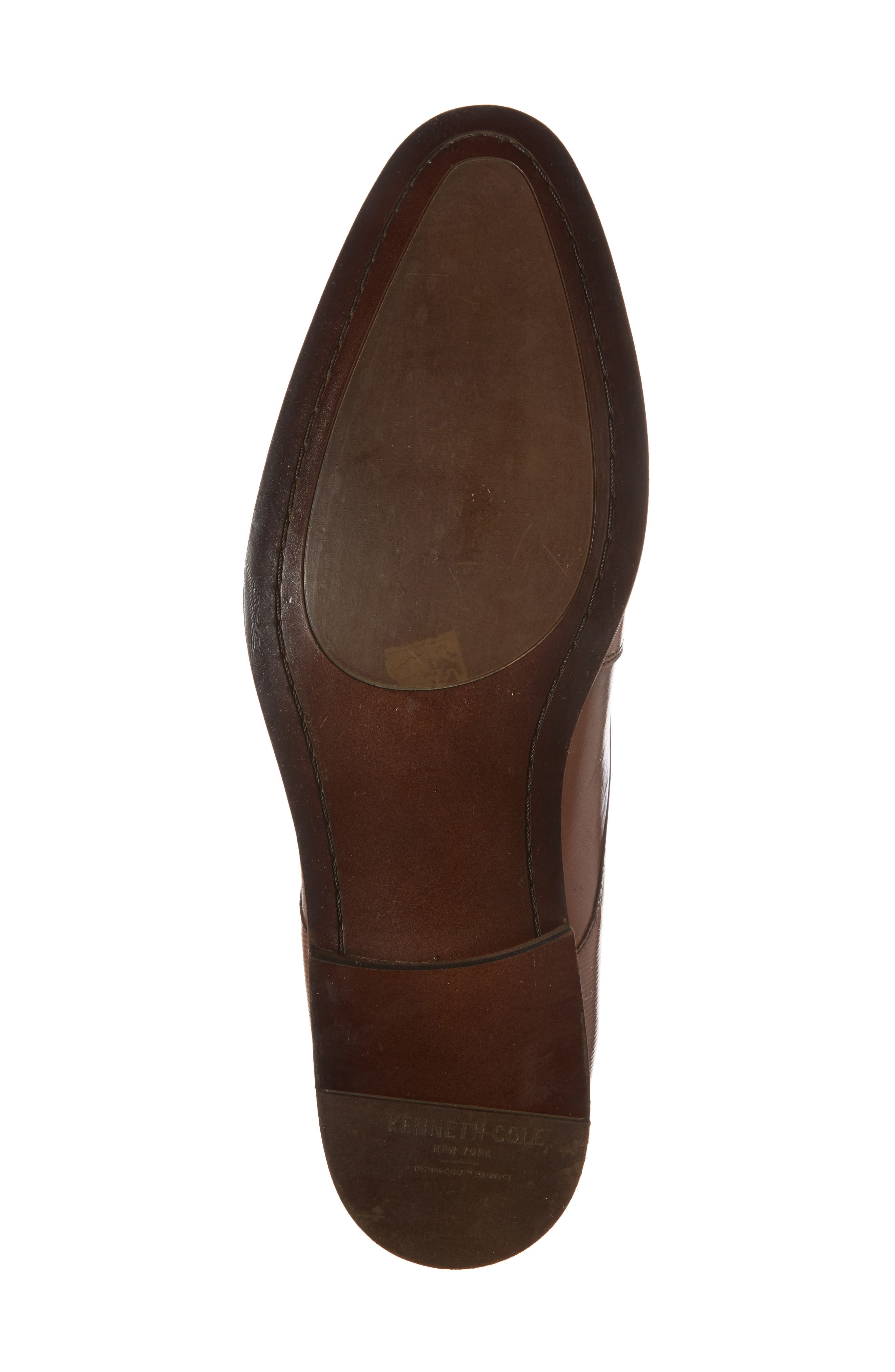 KENNETH COLE NEW YORK,                             Courage Plain Toe Derby,                             Alternate thumbnail 6, color,                             COGNAC LEATHER