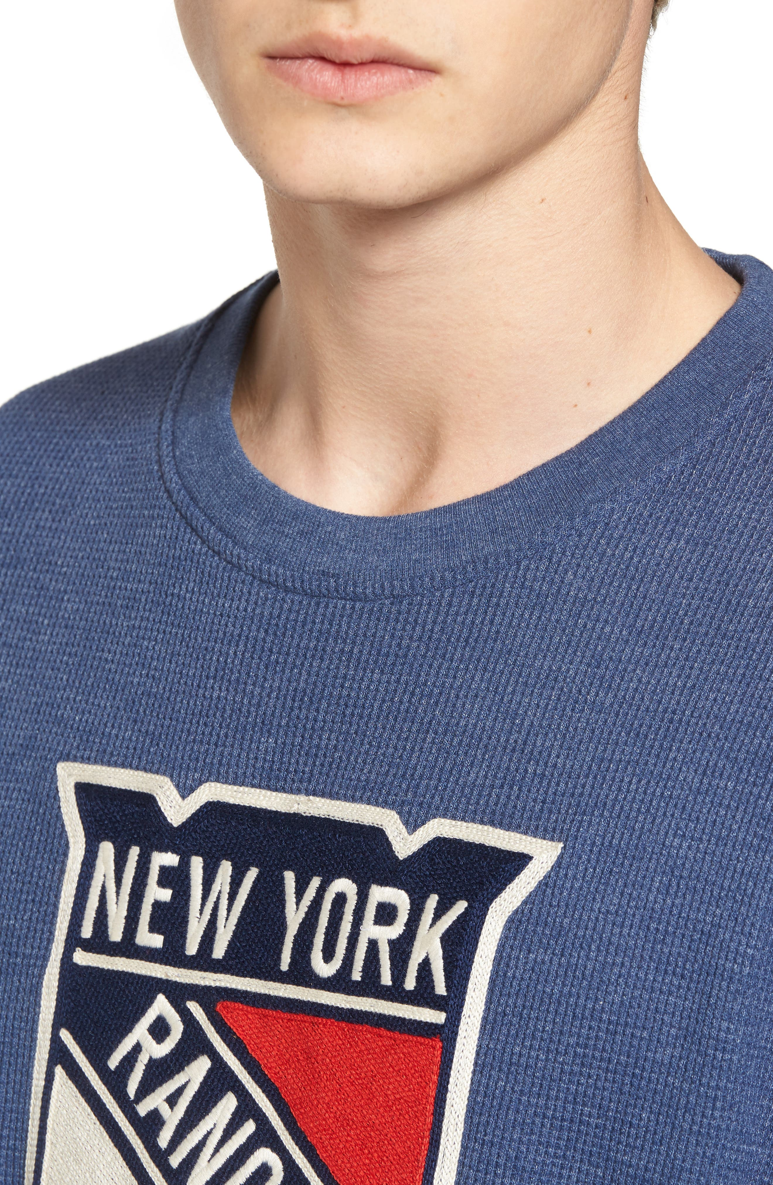 New York Rangers Embroidered Long Sleeve Thermal Shirt,                             Alternate thumbnail 4, color,                             410