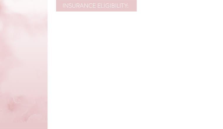 Insurance eligibility.