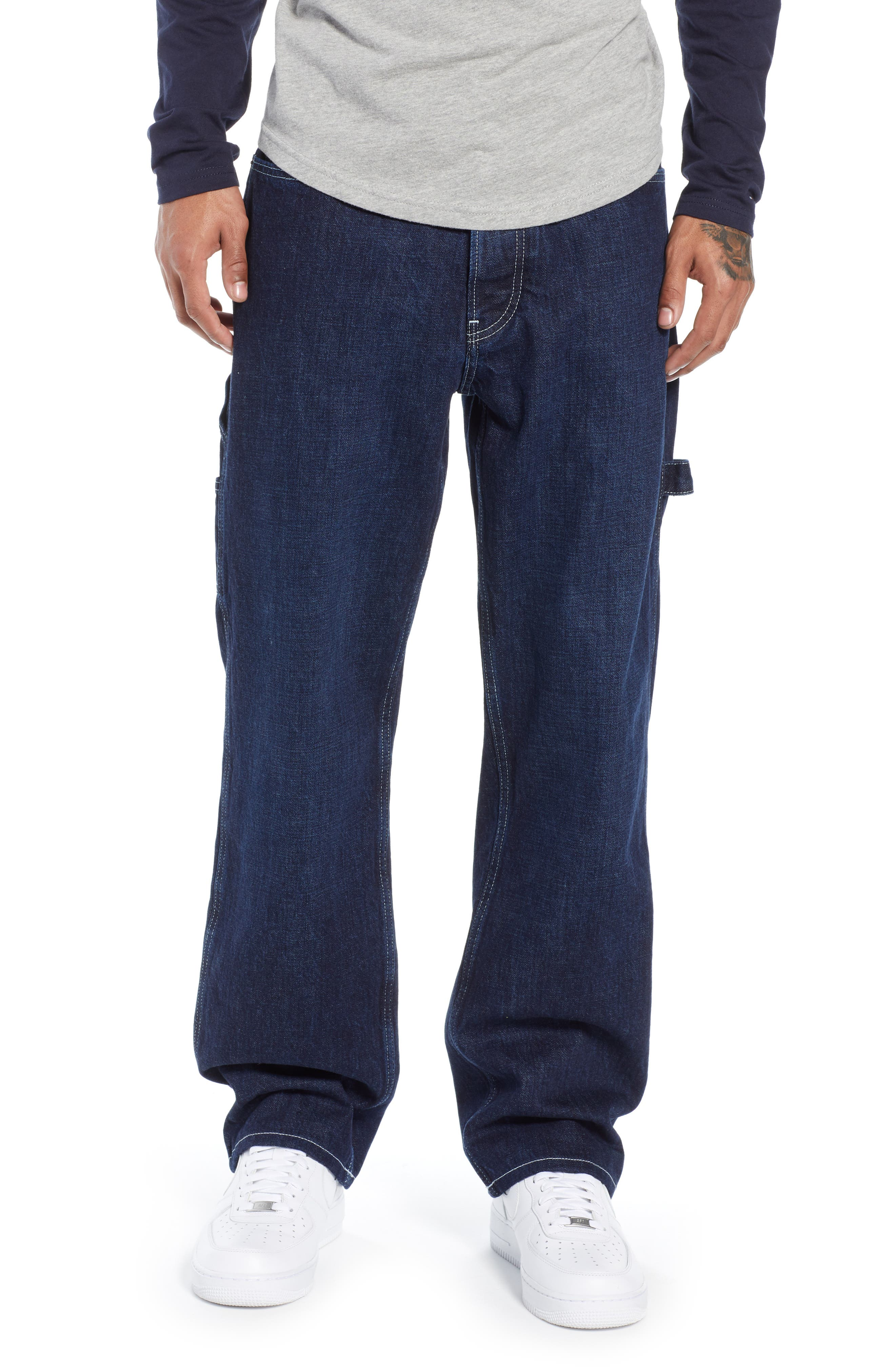 TJM 1986 Relaxed Carpenter Pants,                         Main,                         color, CONTRAST DARK RIG