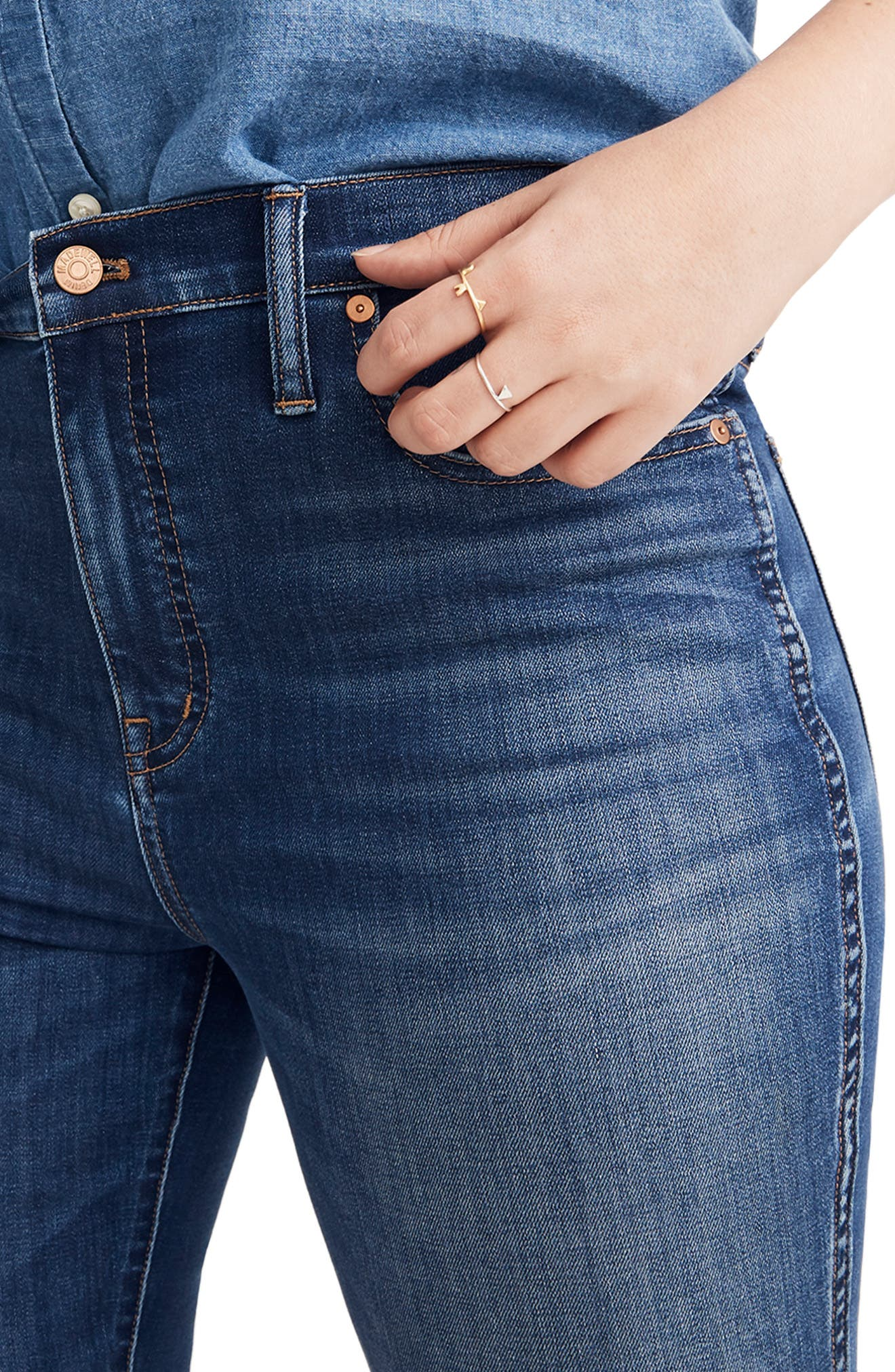 10-Inch High Rise Skinny Jeans,                             Alternate thumbnail 10, color,                             DANNY