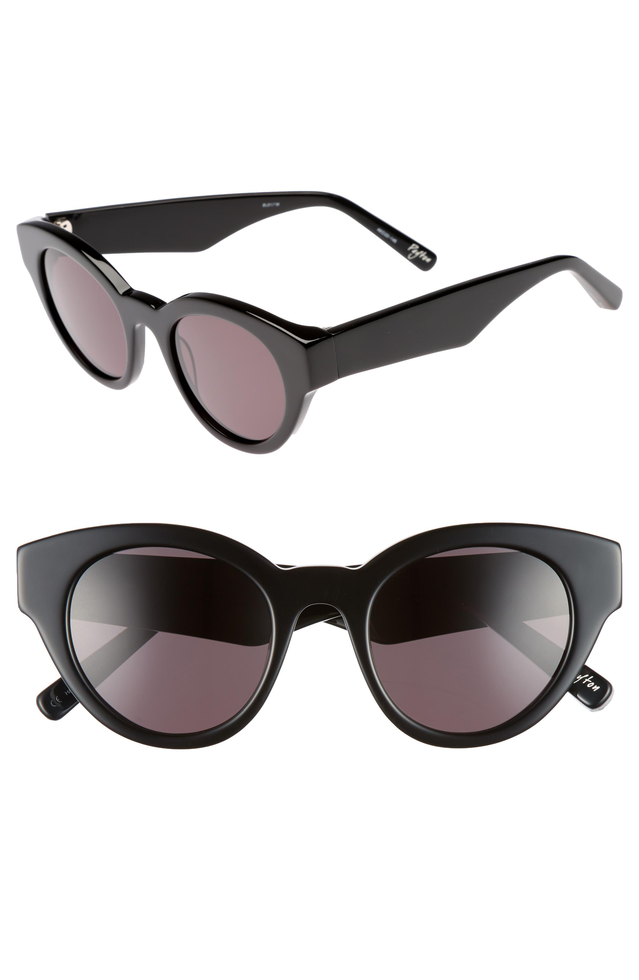Payton 48mm Cat Eye Sunglasses,                             Main thumbnail 1, color,                             001