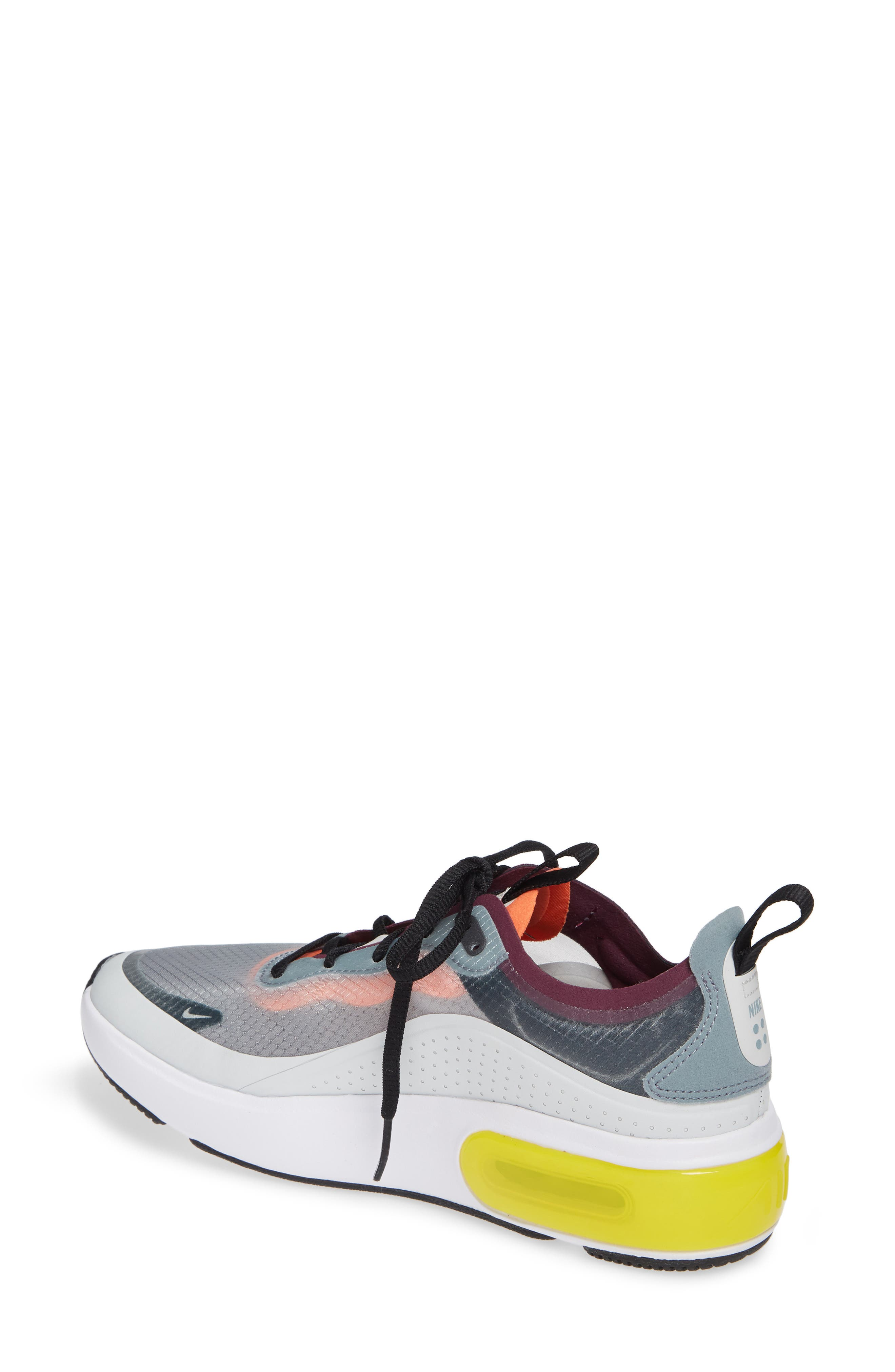 Air Max DIA SE Running Shoe,                             Alternate thumbnail 2, color,                             AVIATOR GREY/ BLACK/ OFF WHITE