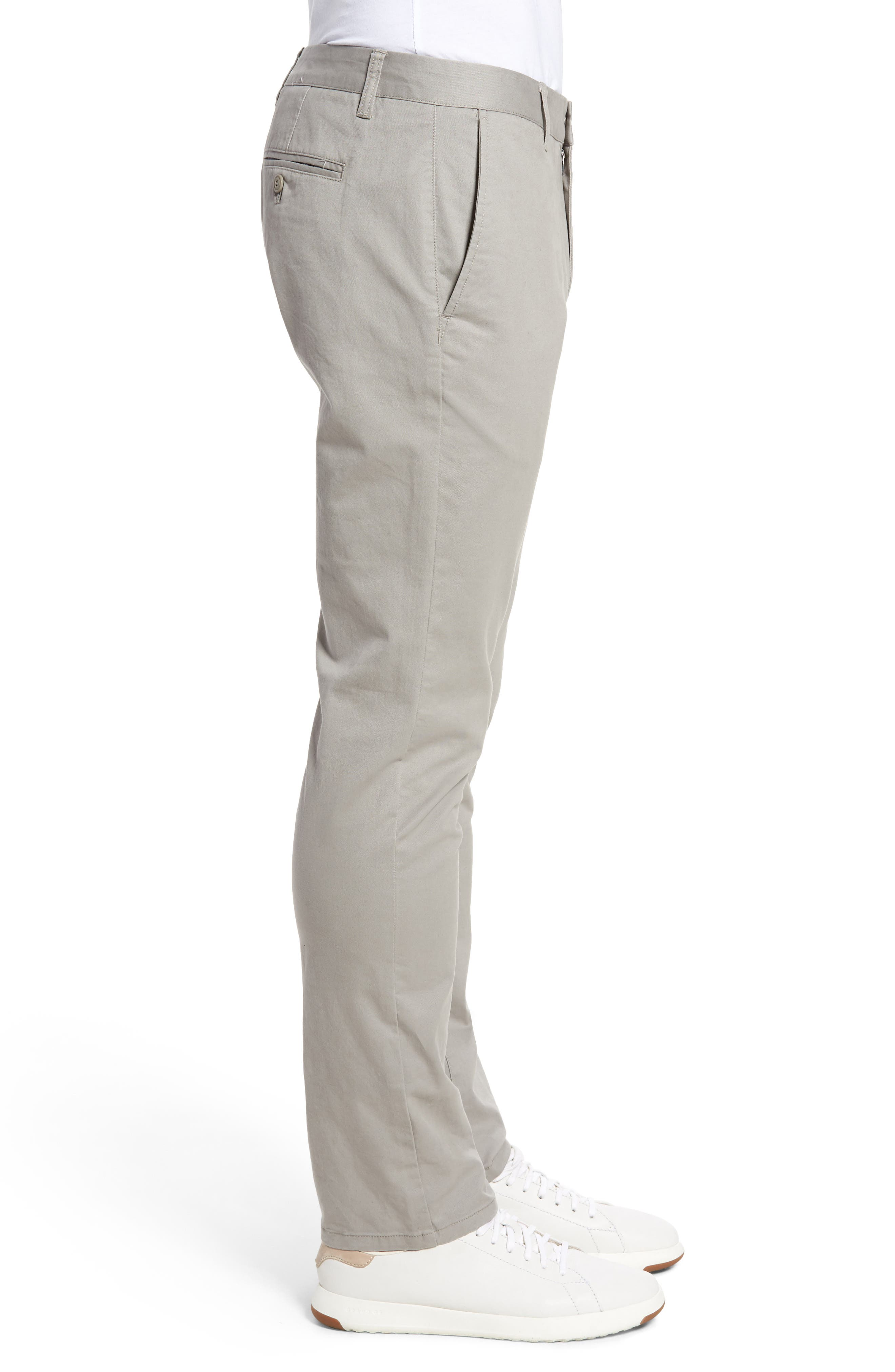 Tailored Fit Washed Stretch Cotton Chinos,                             Alternate thumbnail 97, color,