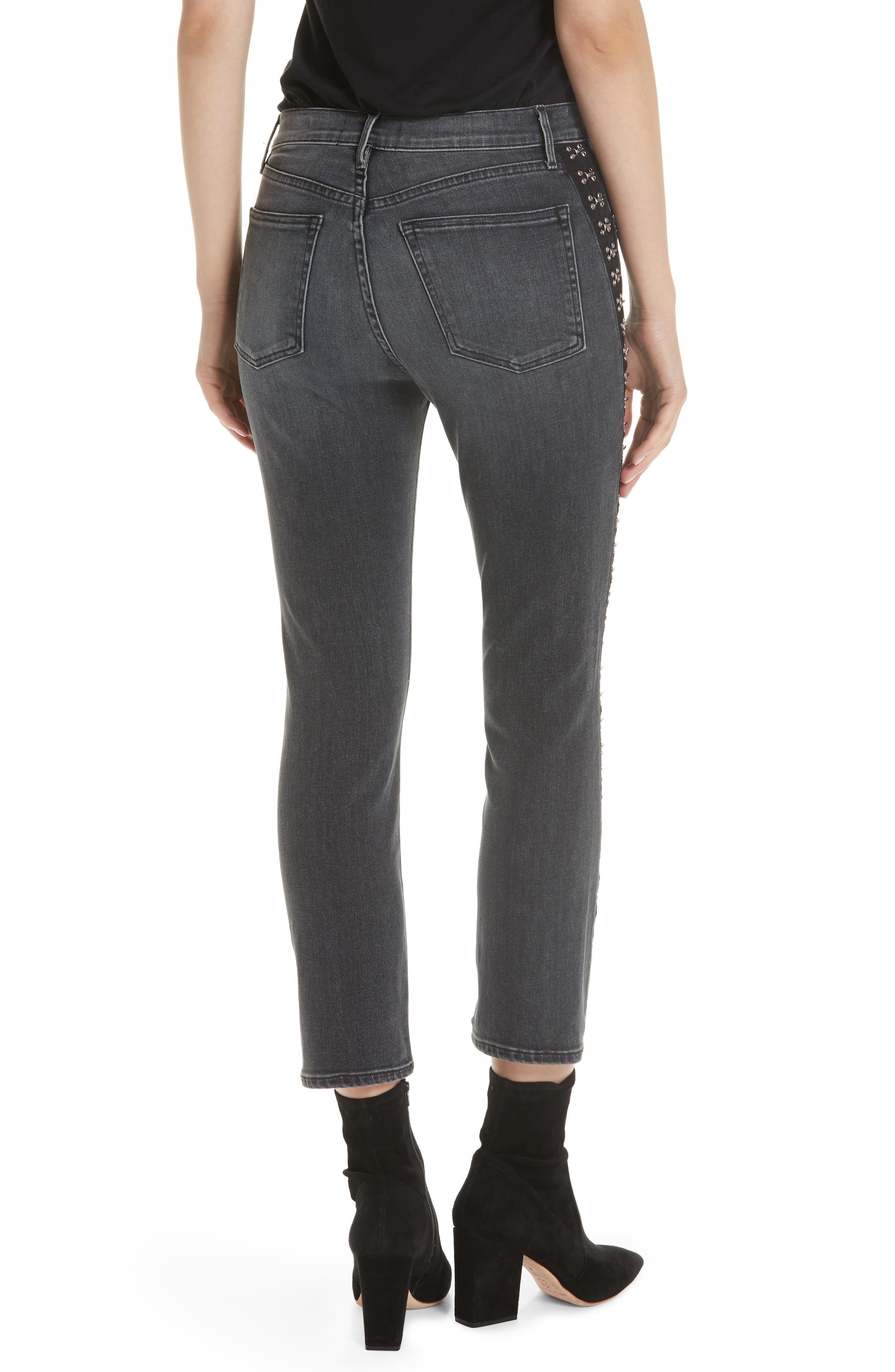 Corset Detail Ankle Skinny Jeans,                             Alternate thumbnail 2, color,                             EDDA