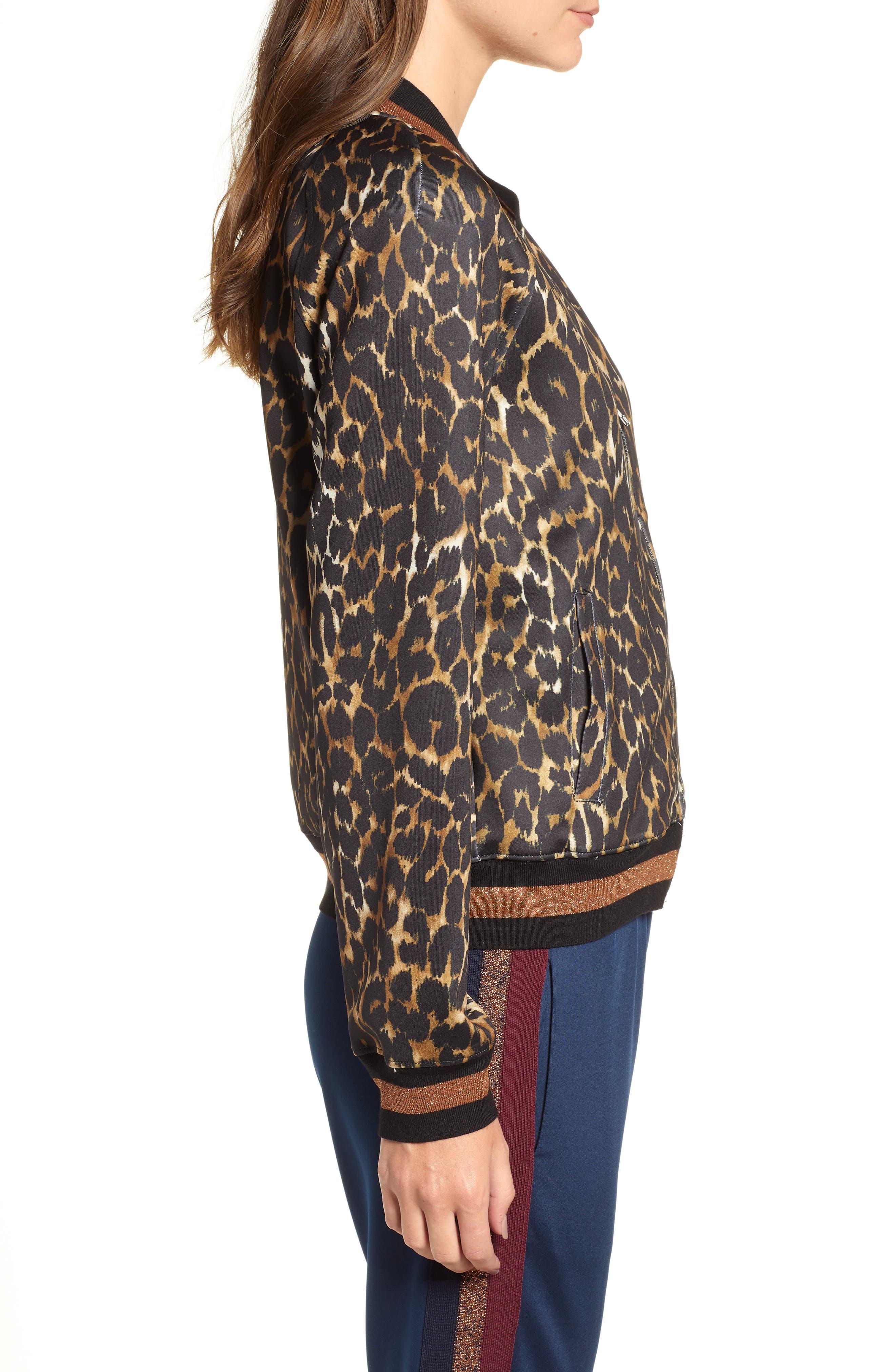 Leopard Track Jacket,                             Alternate thumbnail 3, color,                             234