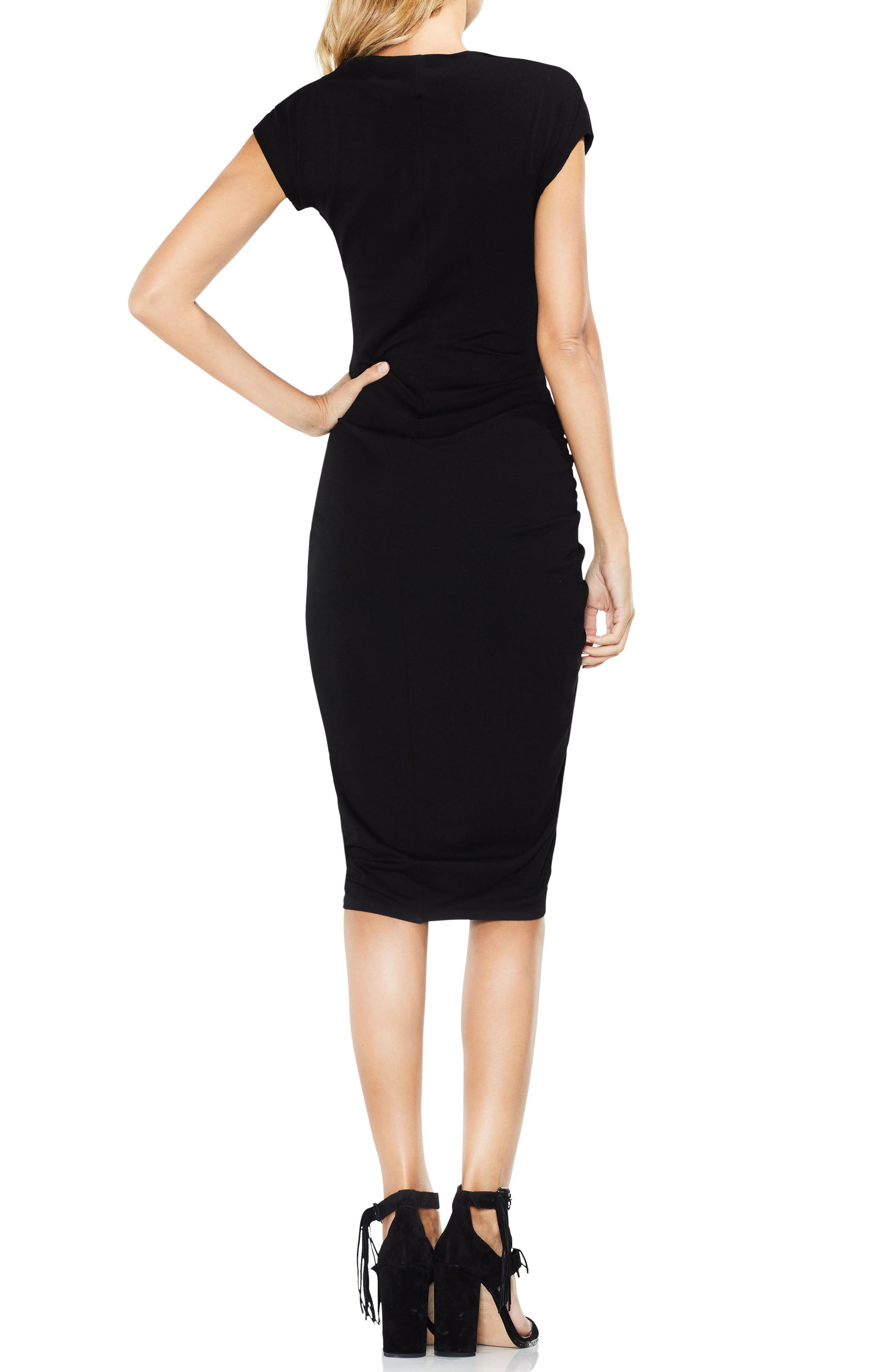 Ruched Jersey Midi Dress,                             Alternate thumbnail 2, color,                             006