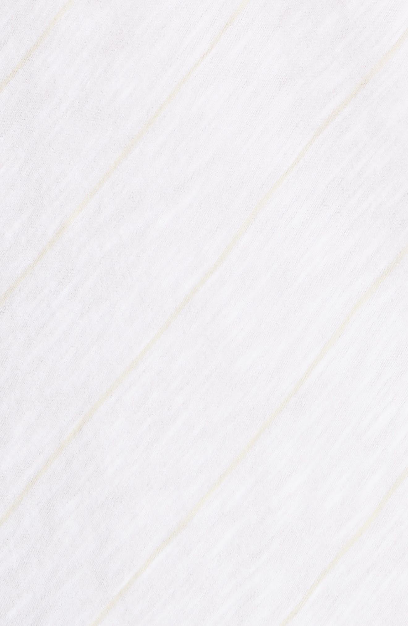 Skinny Stripe Pima Cotton Top,                             Alternate thumbnail 5, color,                             106
