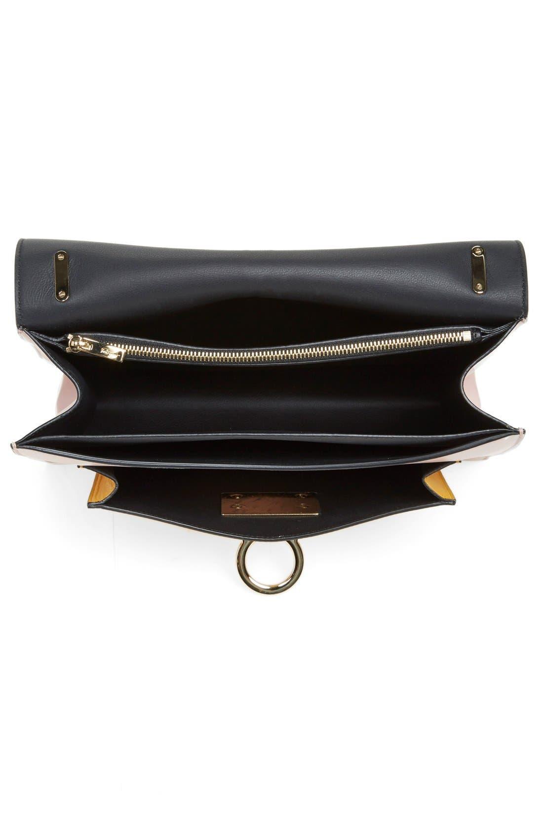 'Large Marisol' Leather Shoulder Bag,                             Alternate thumbnail 4, color,                             250