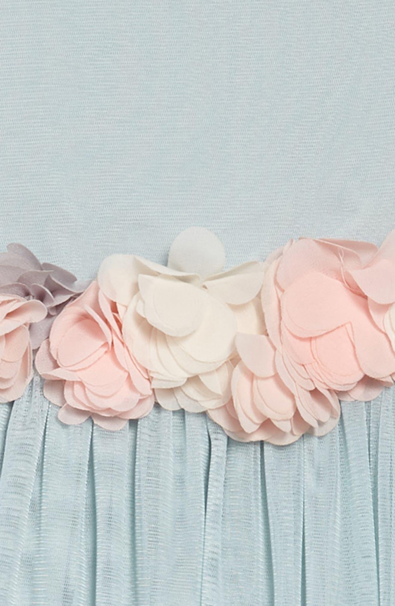 Cap Sleeve Tulle Dress,                             Alternate thumbnail 3, color,                             454